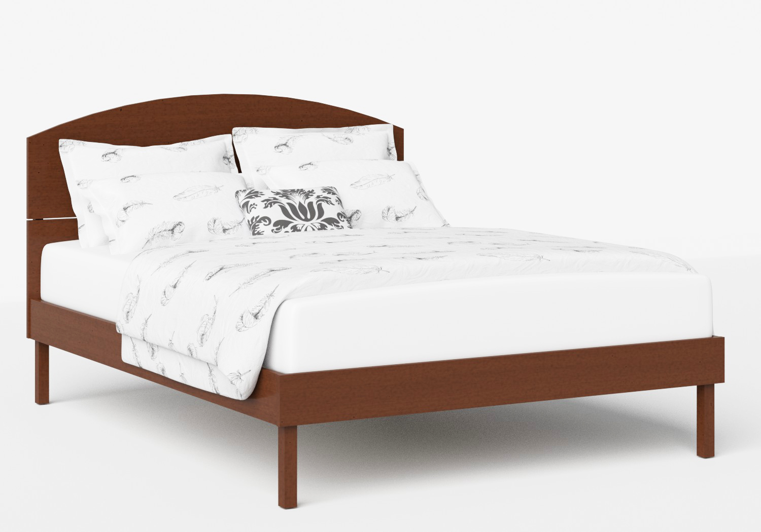 Okawa Wood Bed in Dark Cherry