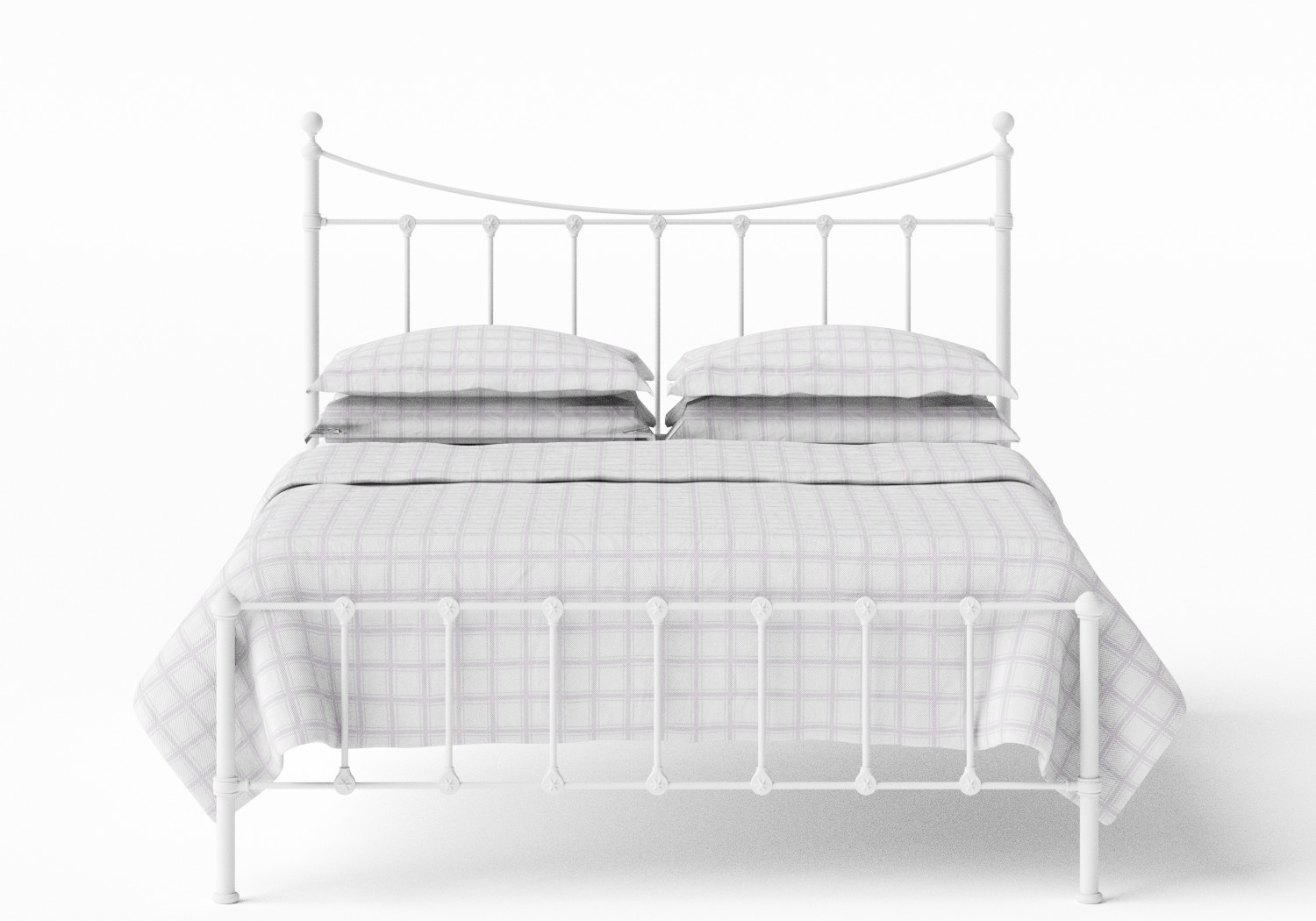 Olivia Iron/Metal Bed in Satin White