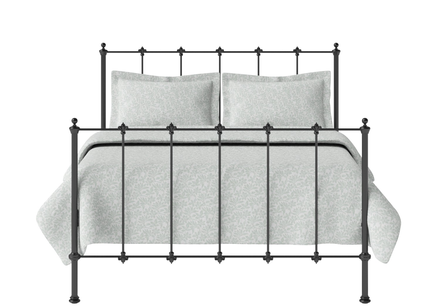 Paris Iron/Metal Bed in Satin Black