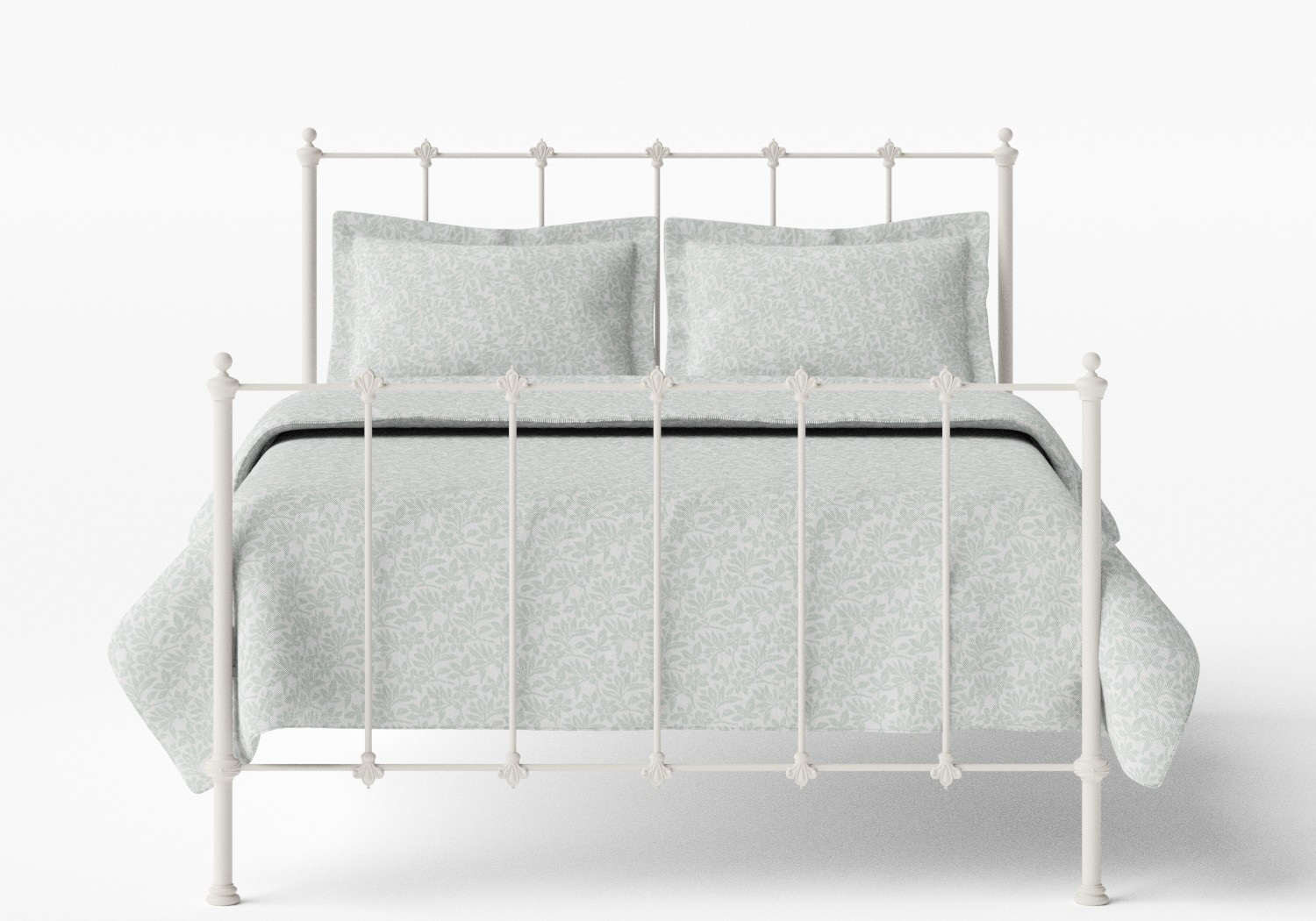 Paris Iron/Metal Bed in Glossy Ivory