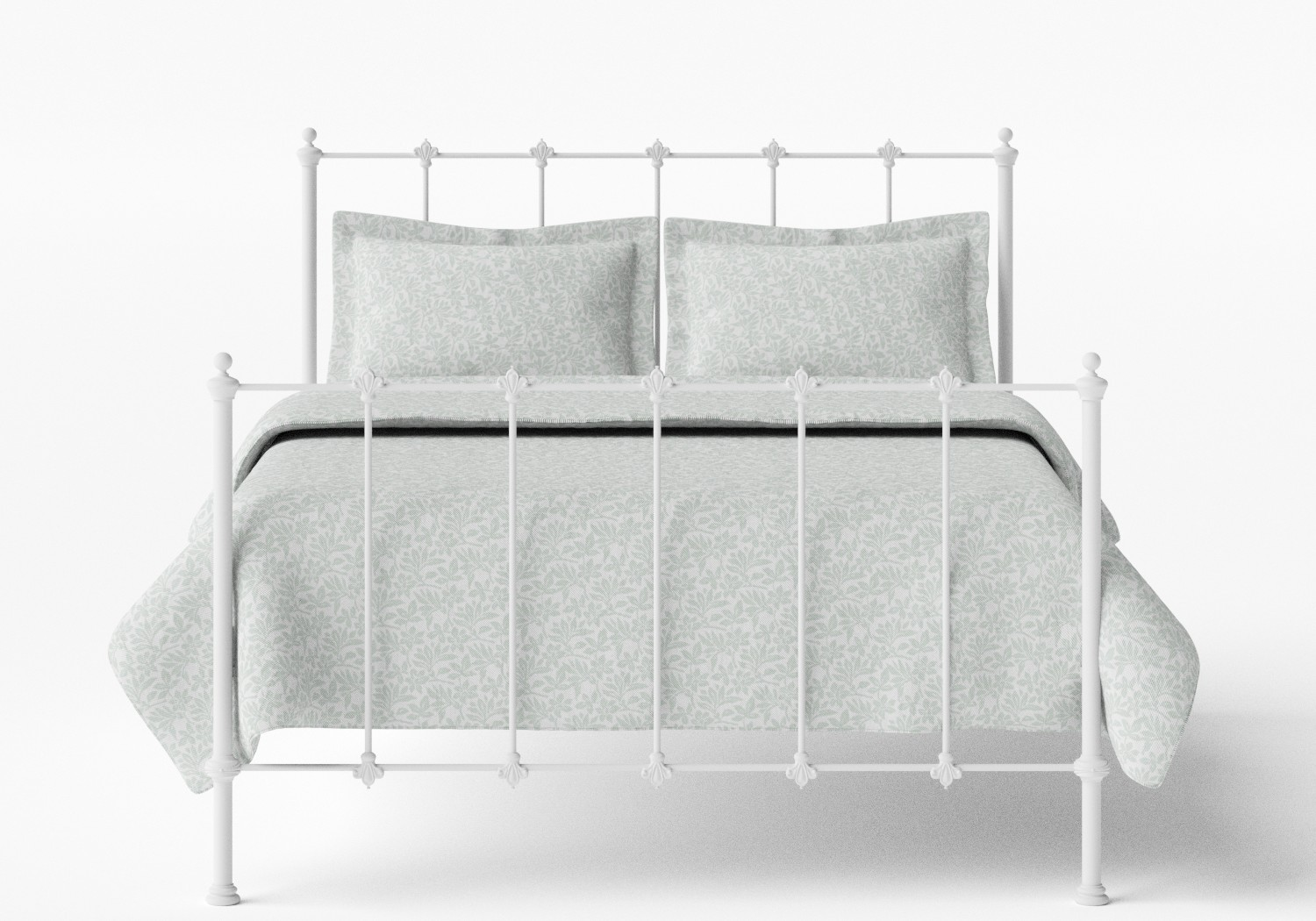 Paris Iron/Metal Bed in Satin White