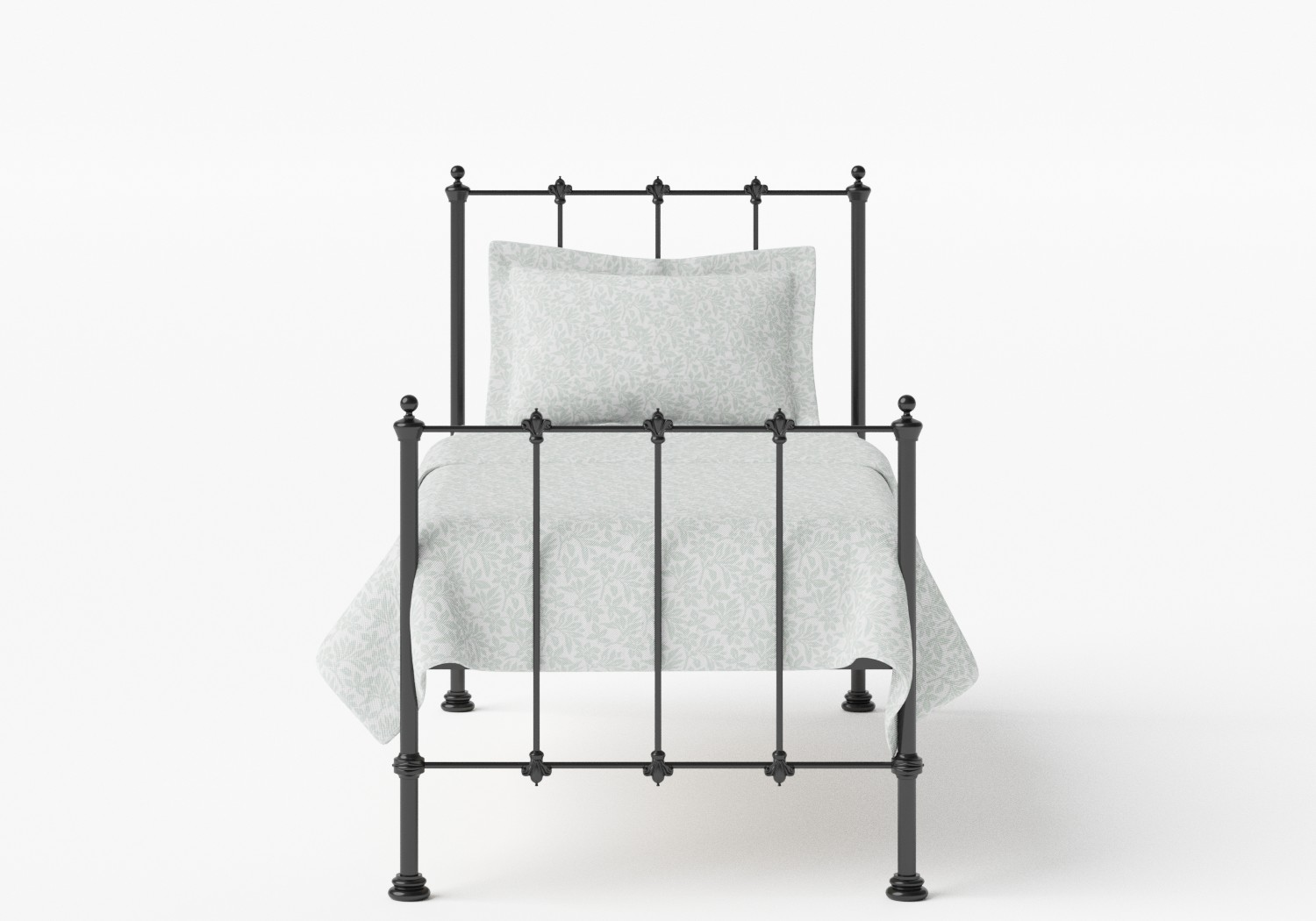 Paris Single Iron/Metal Bed in Satin Black