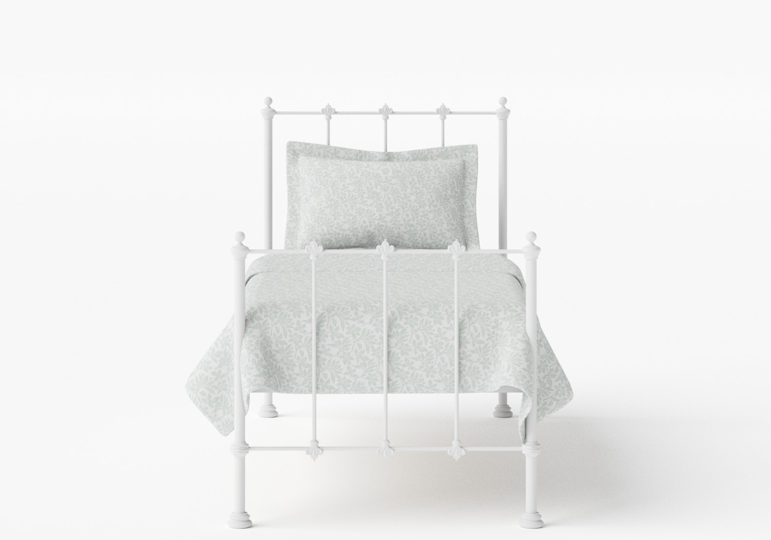 Paris Single Iron/Metal Bed in Satin White