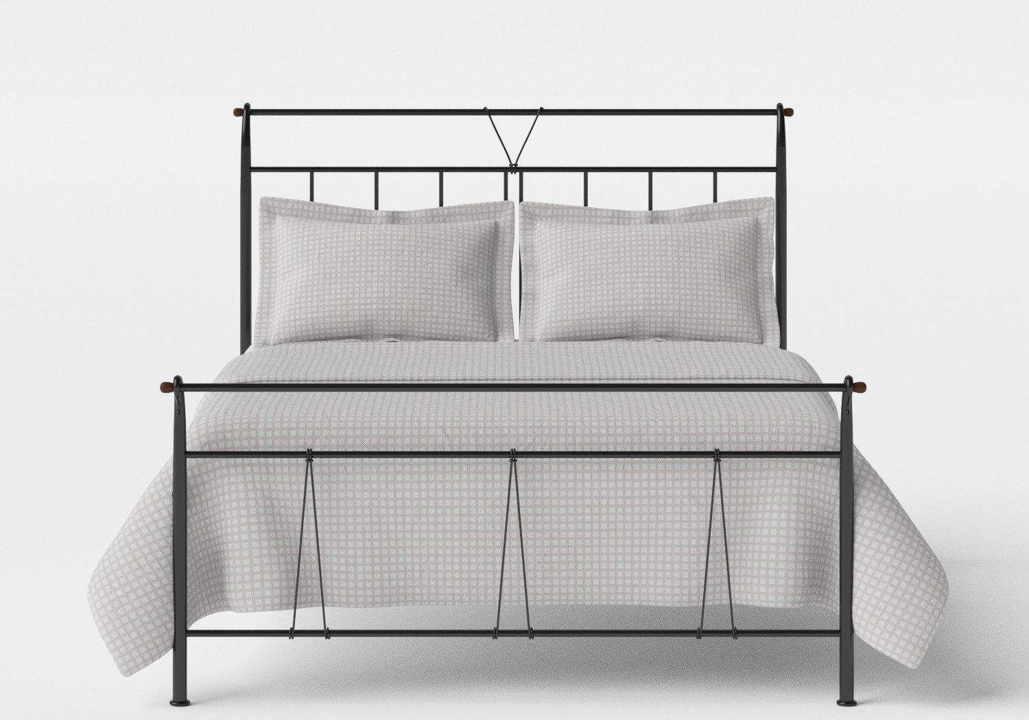 Pellini iron bed in Satin Black
