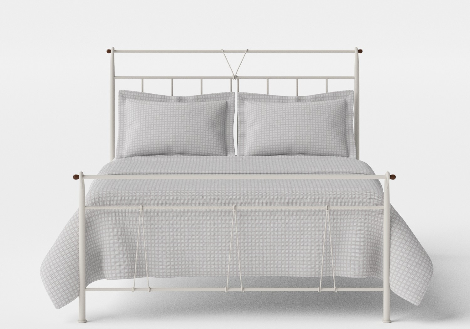 Pellini iron bed in Glossy Ivory