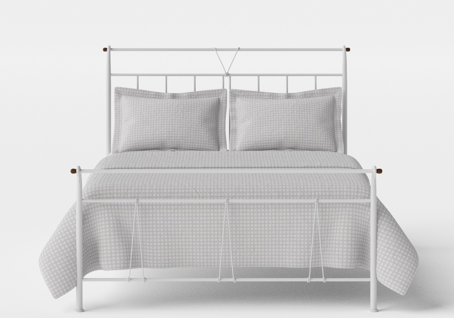 Pellini iron bed in Satin White
