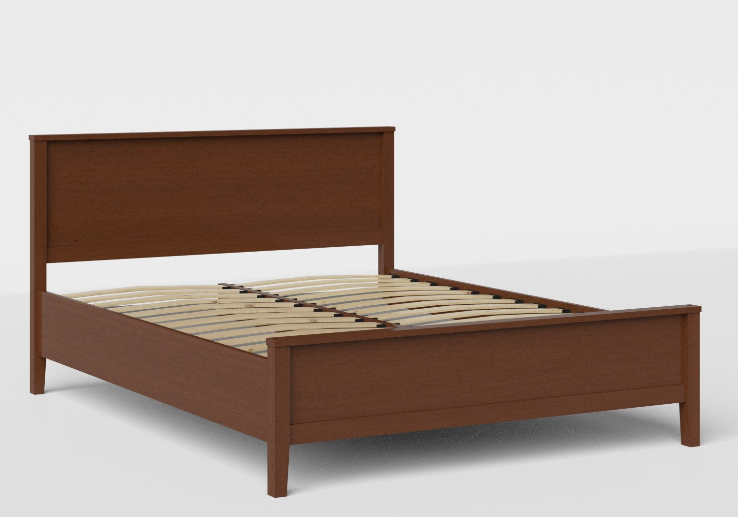 Ramsay Wood Bed in Dark Cherry shown with slatted frame