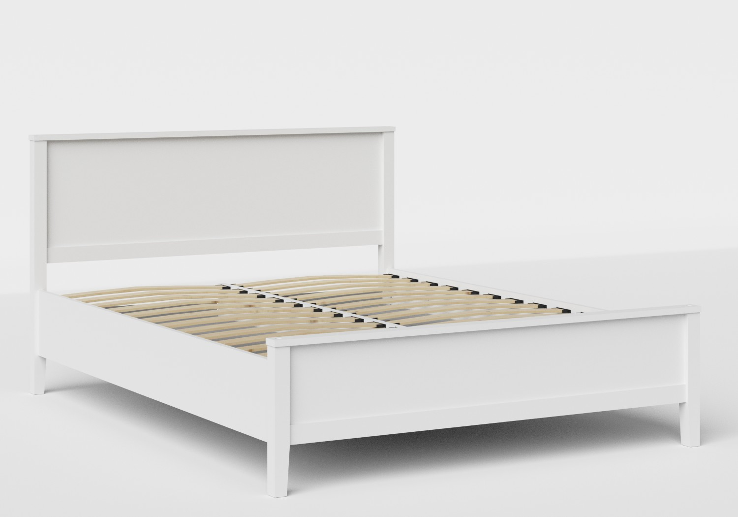 Ramsay Wood Bed in White with slatted base
