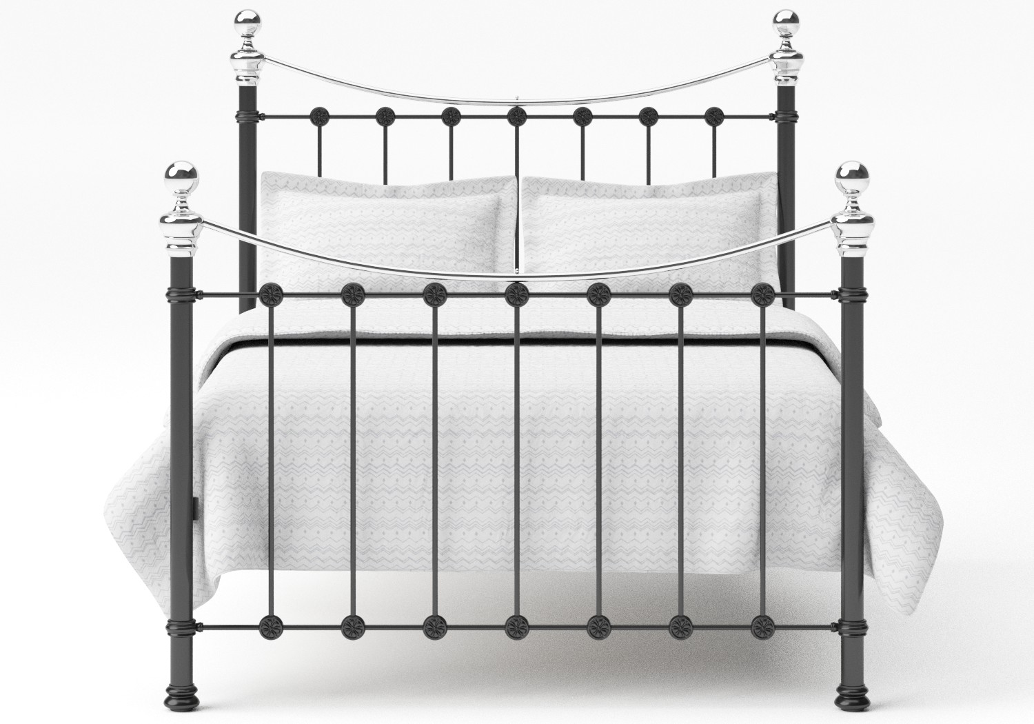 Selkirk Iron/Metal Bed in Satin Black with Chrome details