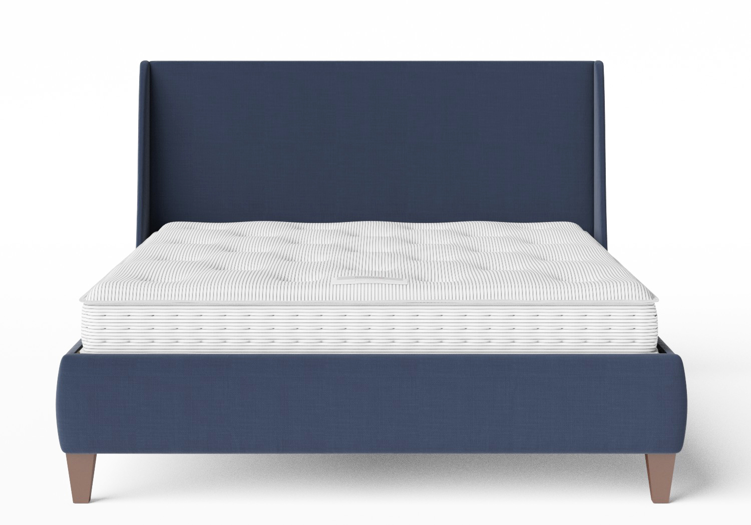 Sunderland Upholstered bed in Navy fabric shown with Juno 1 mattress