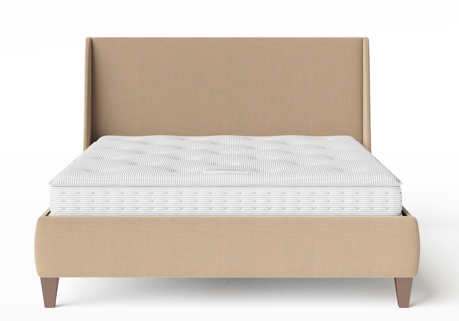 Sunderland Upholstered bed in Straw fabric shown with Juno 1 mattress