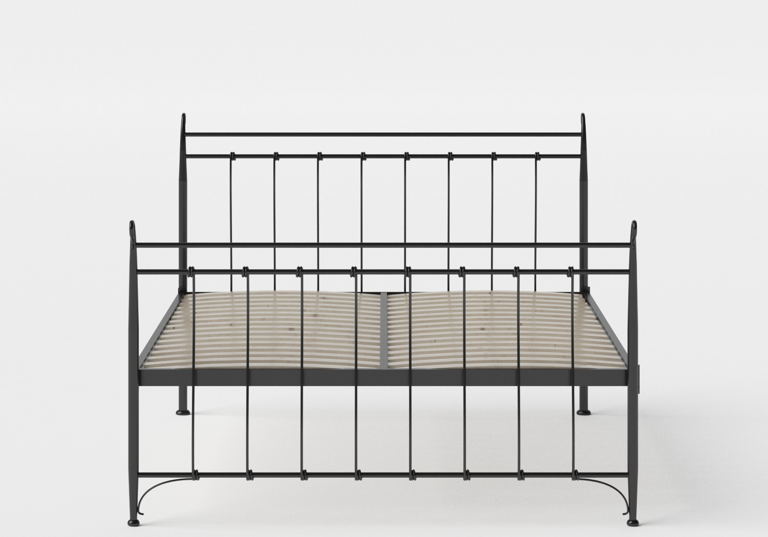 Tiffany iron bed in Satin Black