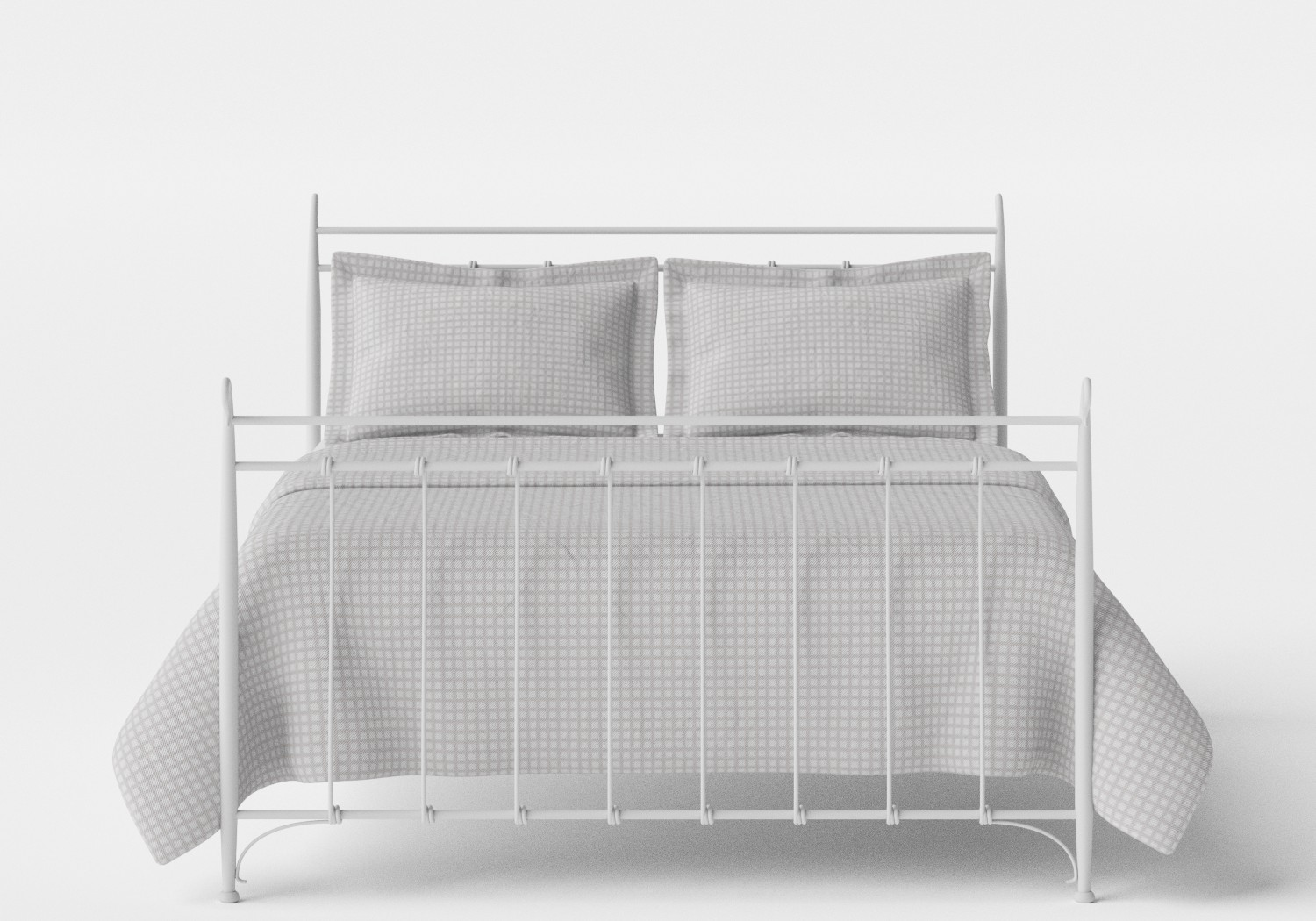 Tiffany iron bed in Satin White