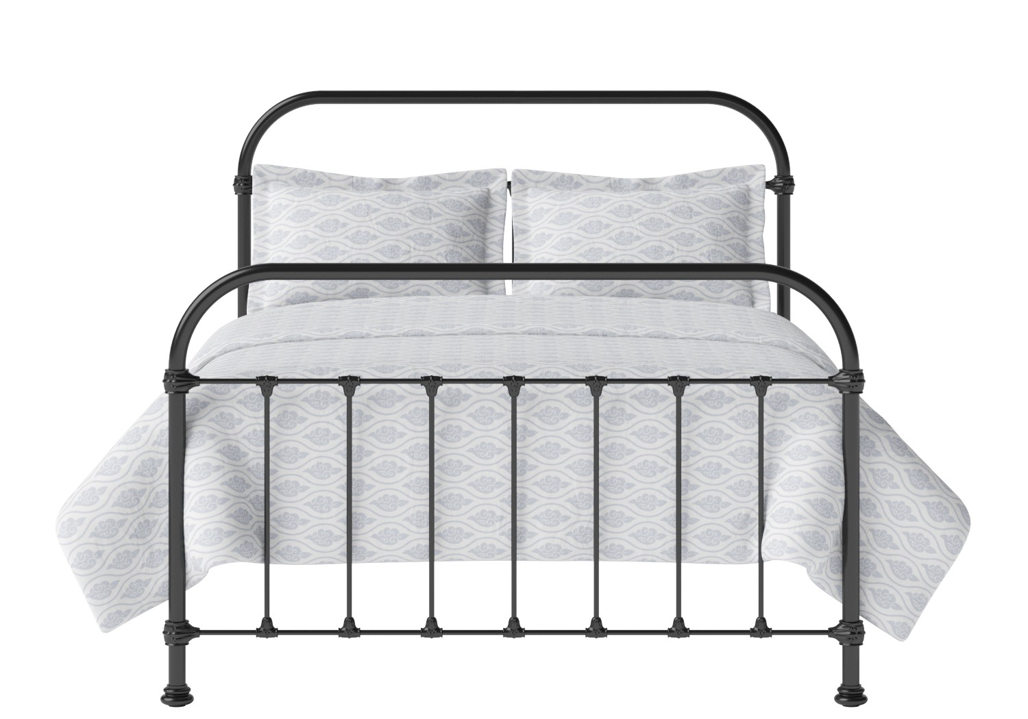 Timolin Iron/Metal Bed in Satin Black