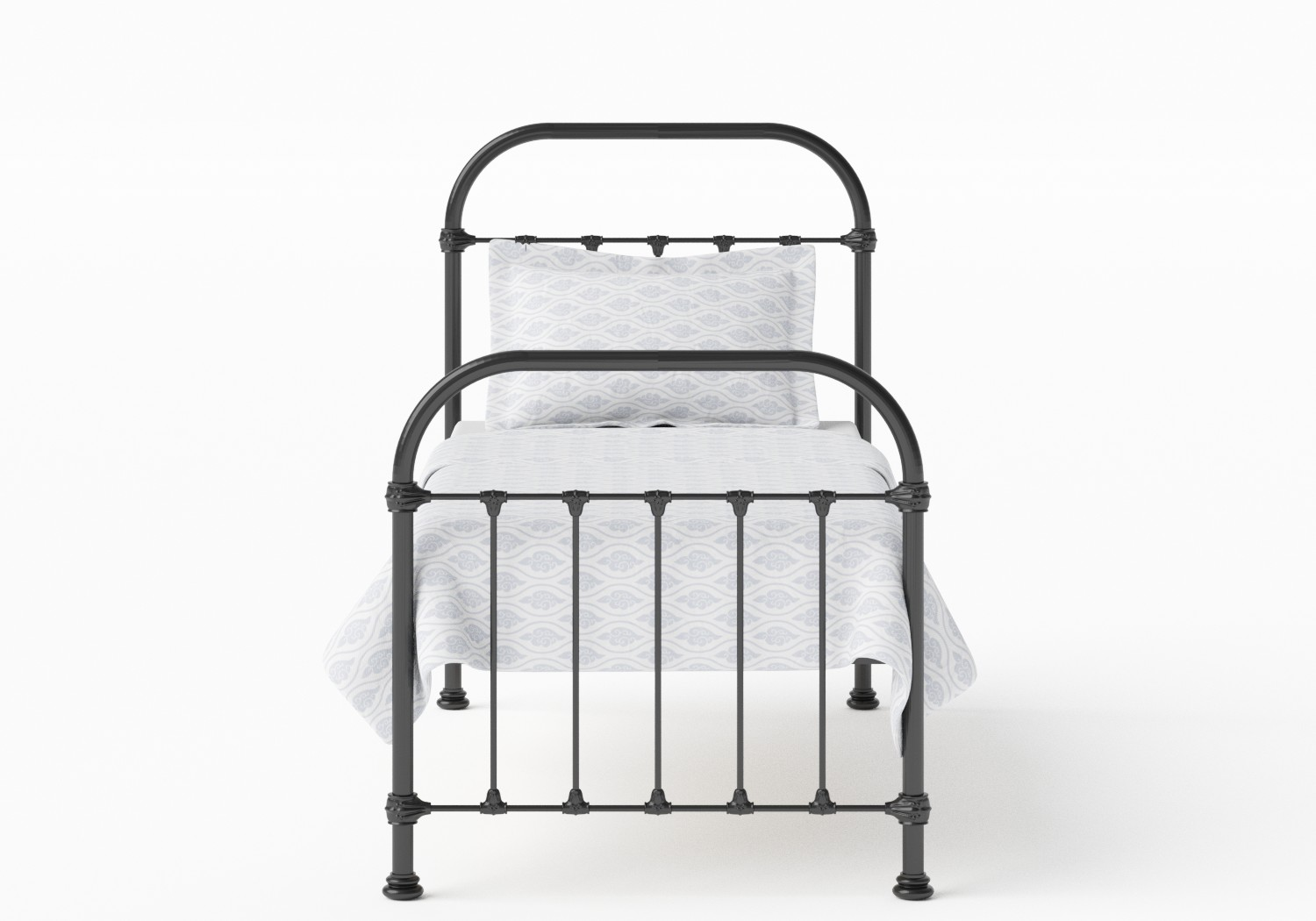 Timolin Single Iron/Metal Bed in Satin Black
