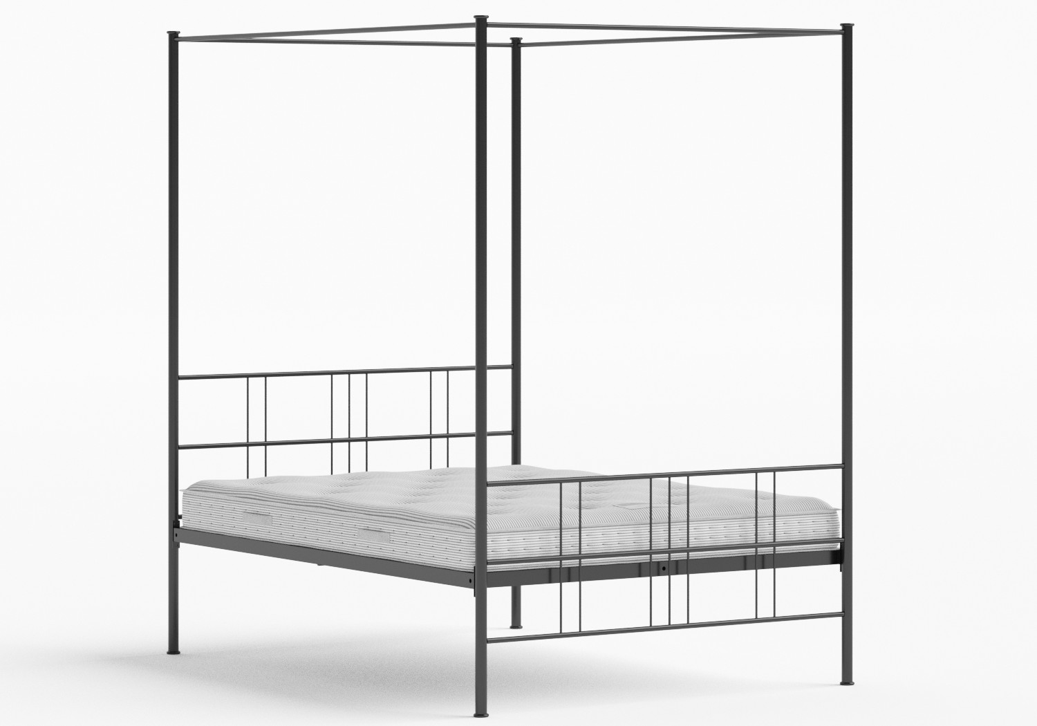 Toulon Iron/Metal Bed in Satin Black