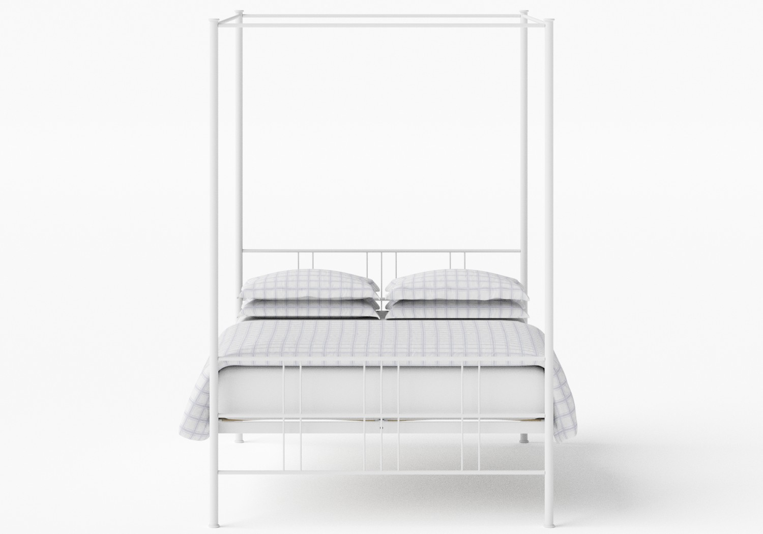 Toulon iron bed in White