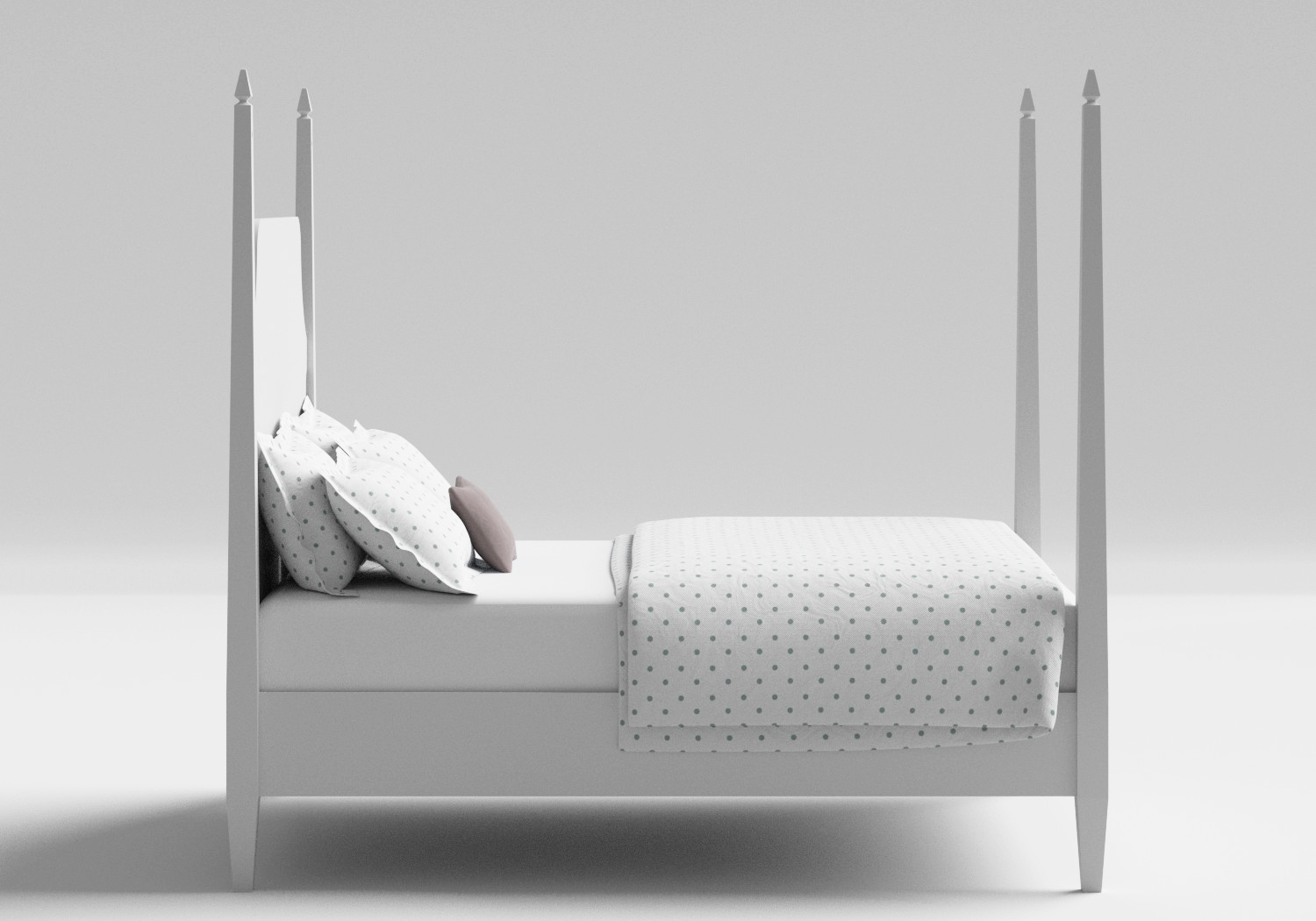 Turner Wood Bed in White