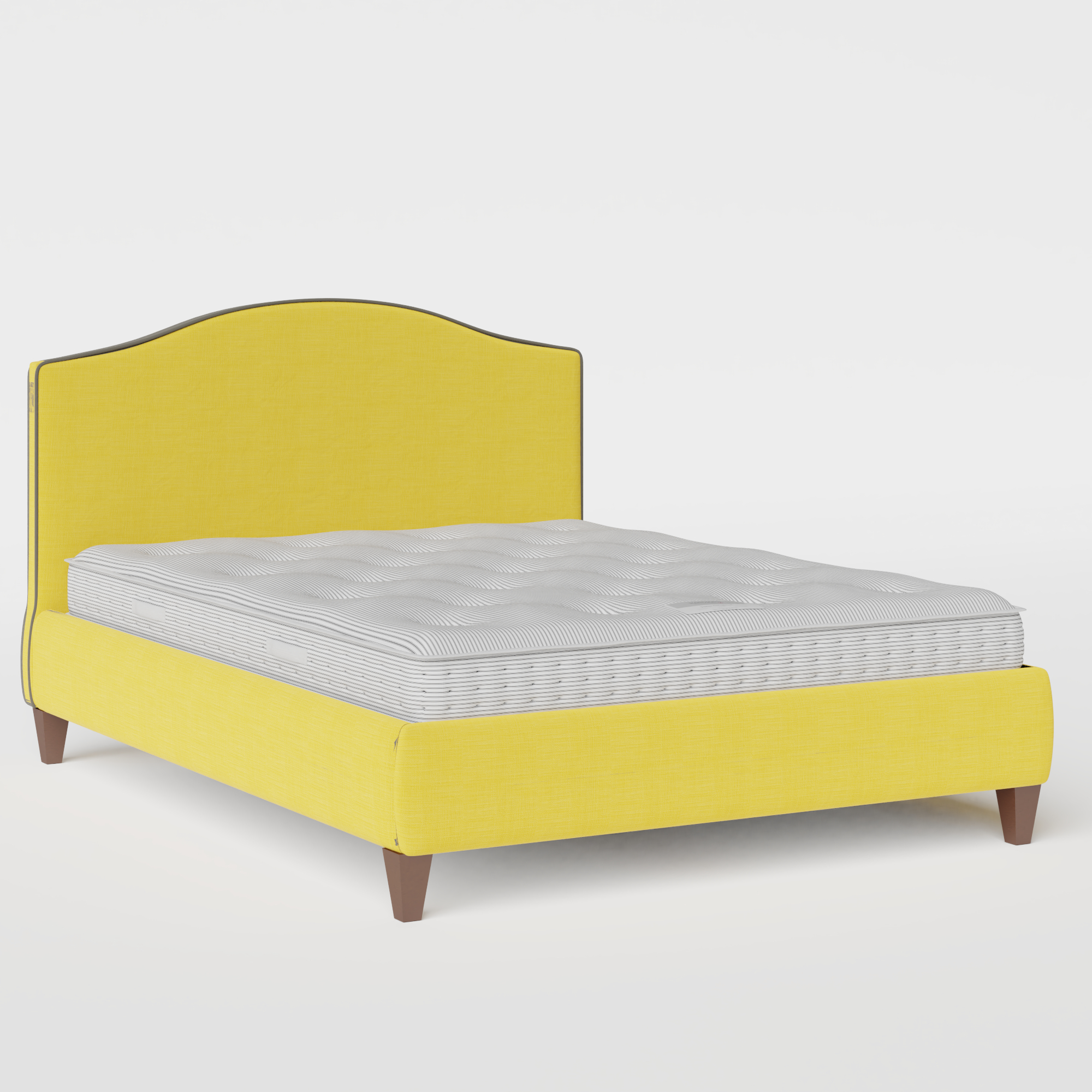 Daniella with Piping upholstered bed in sunflower fabric