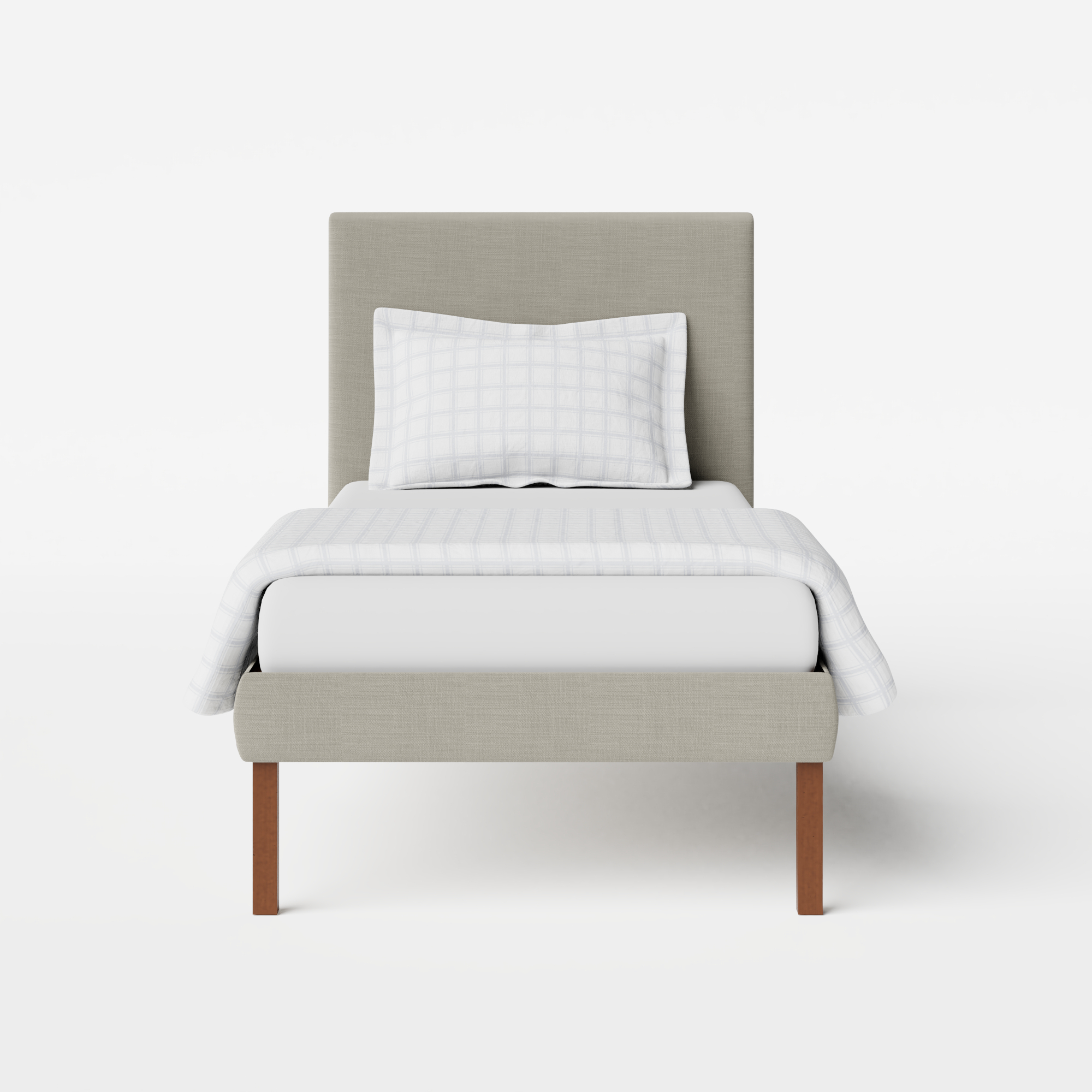 Misaki Upholstered upholstered single bed in grey fabric