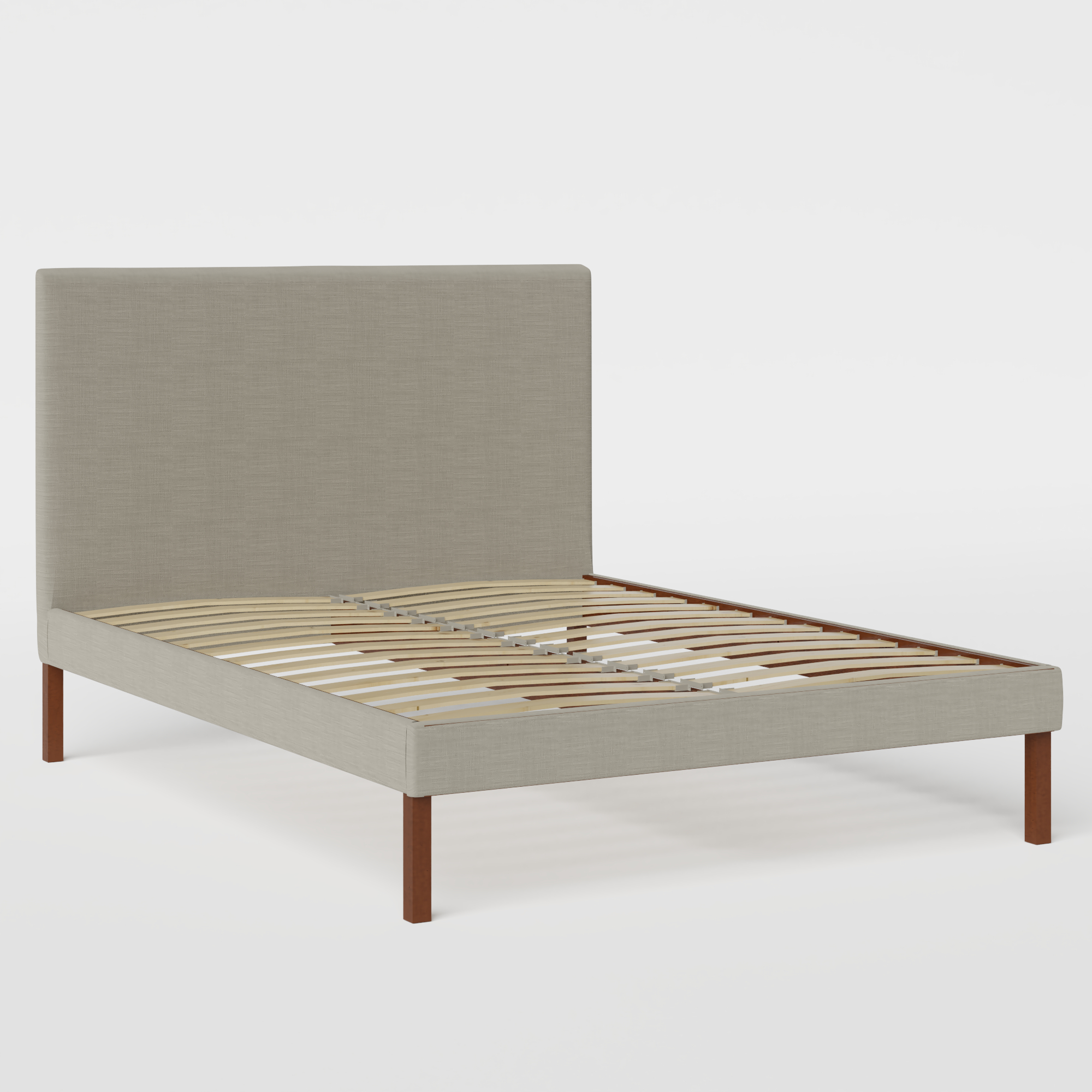Misaki Upholstered upholstered bed in grey fabric