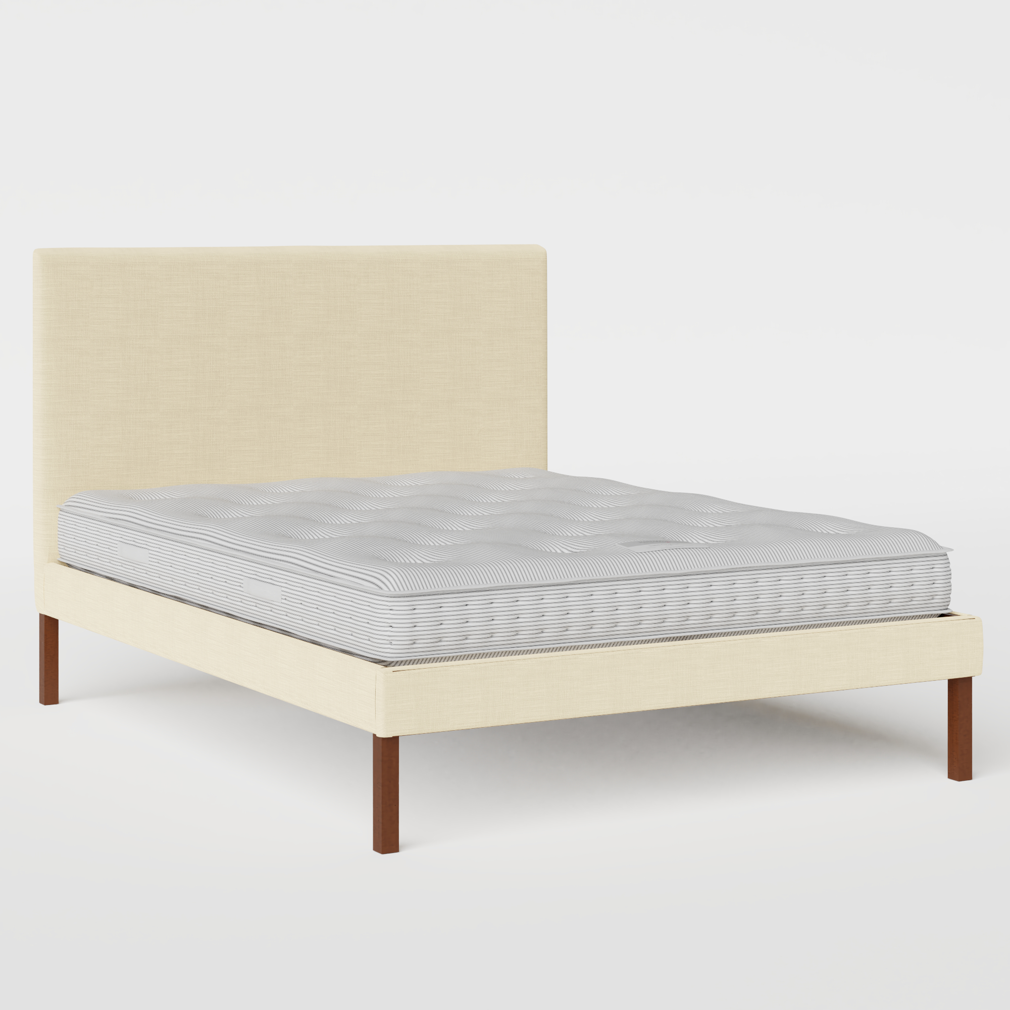 Misaki Upholstered upholstered bed in natural fabric