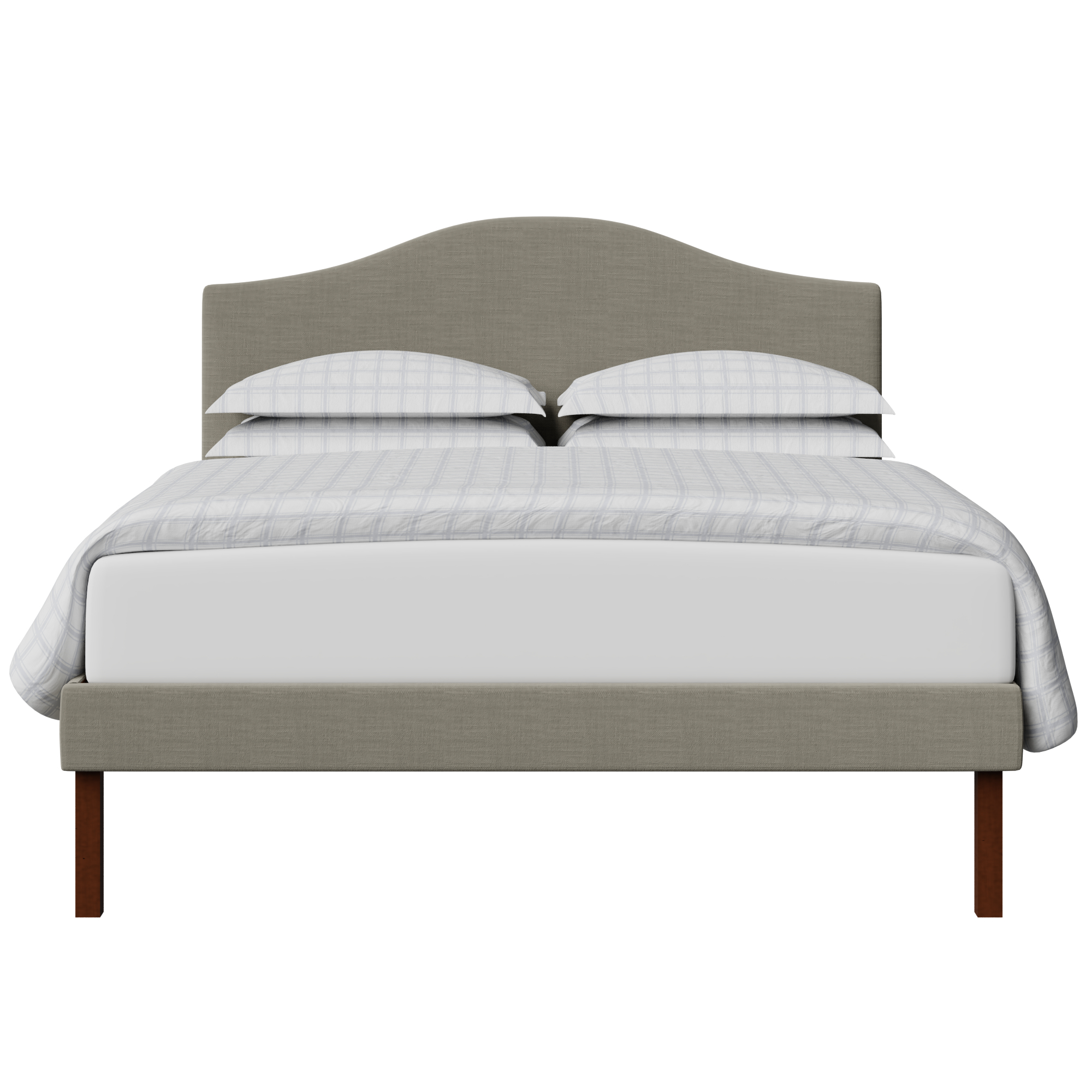 Yoshida Upholstered upholstered bed in grey fabric