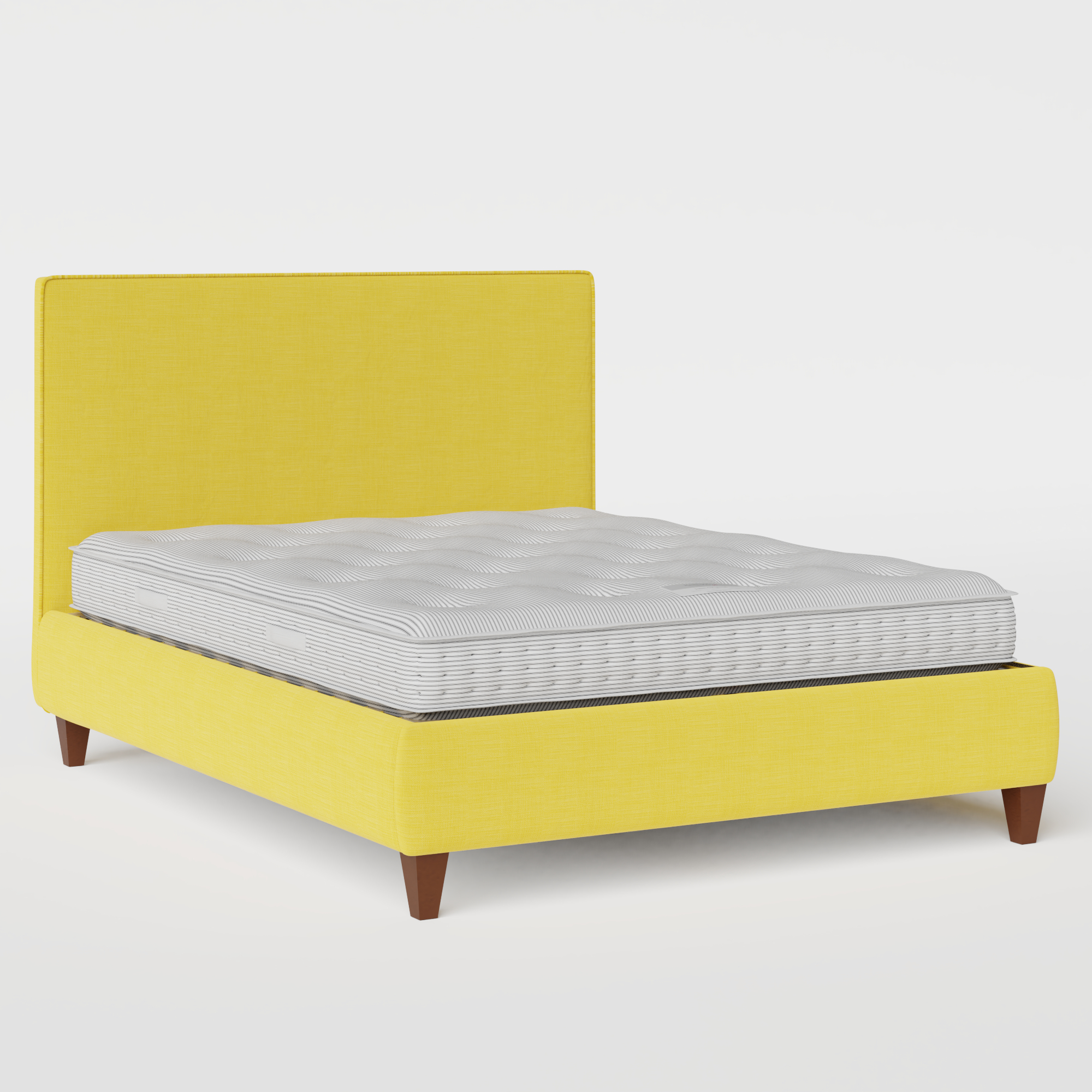 Yushan with Piping upholstered bed in sunflower fabric