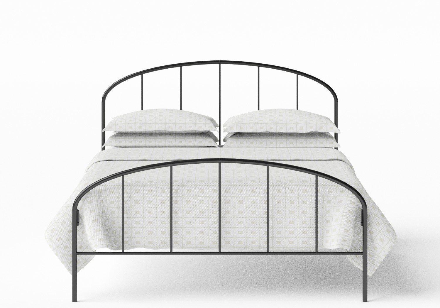 Waldo Iron/Metal Bed in Satin Black