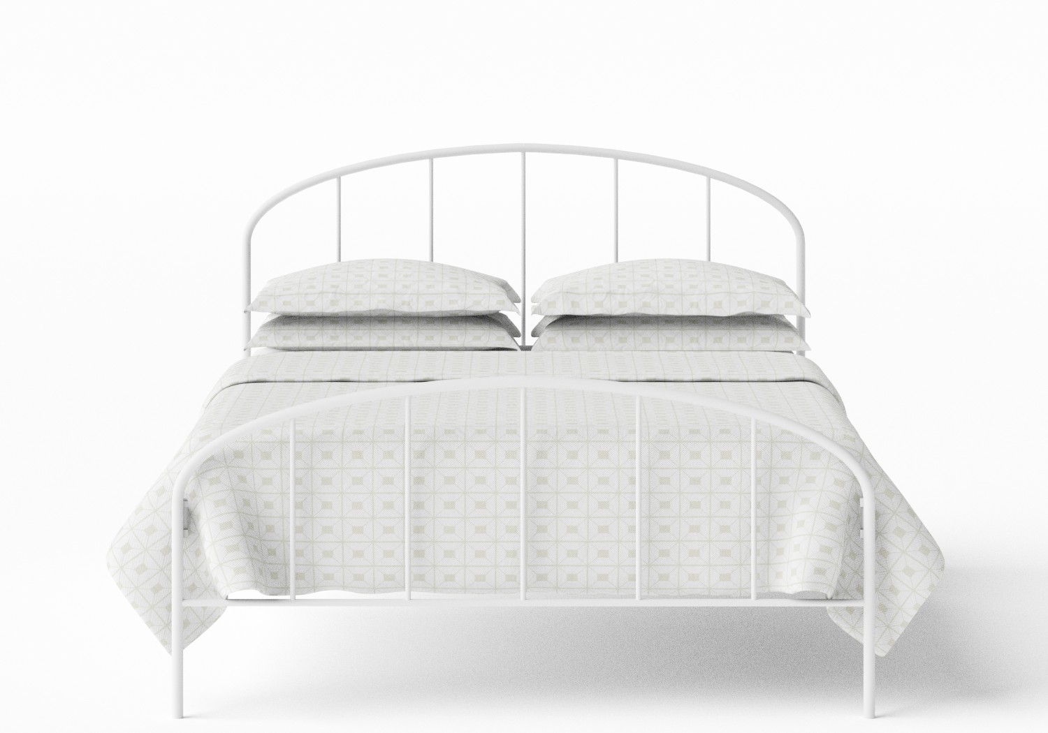 Waldo Iron/Metal Bed in Satin White