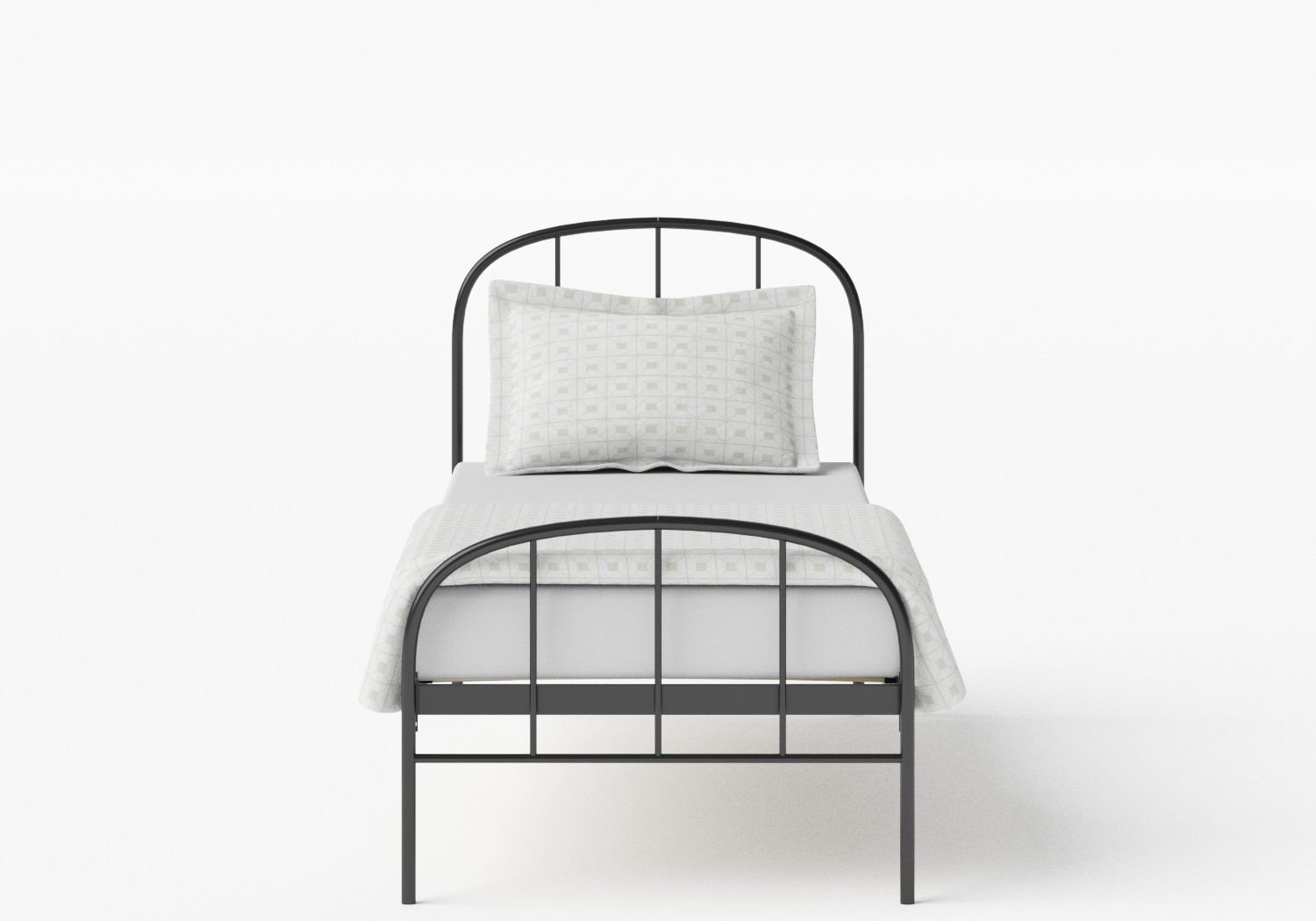 Waldo Single Iron/Metal Bed in Satin Black