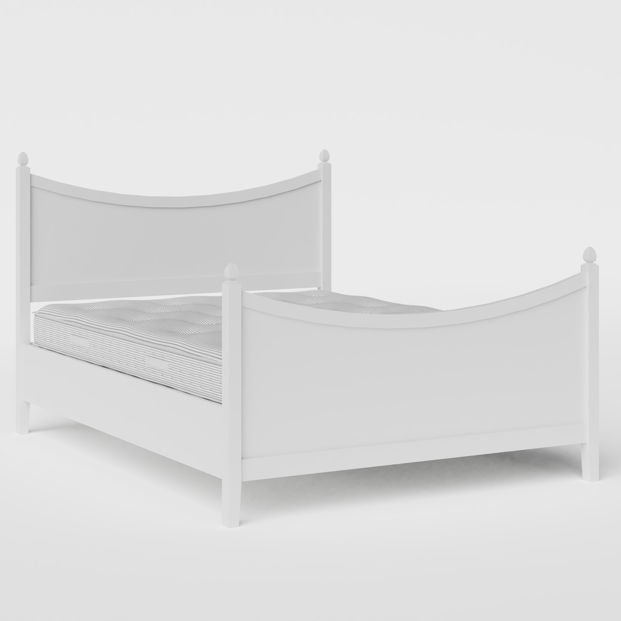 Blake Painted painted wood bed in white with Juno mattress