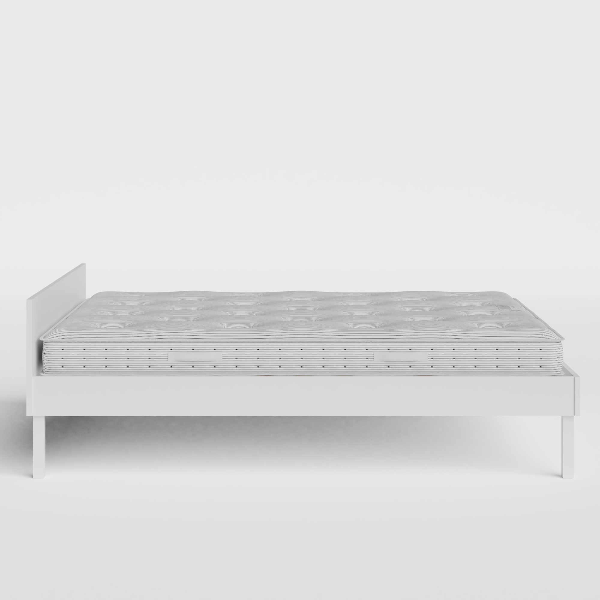 Fuji Painted painted wood bed in white with Juno mattress