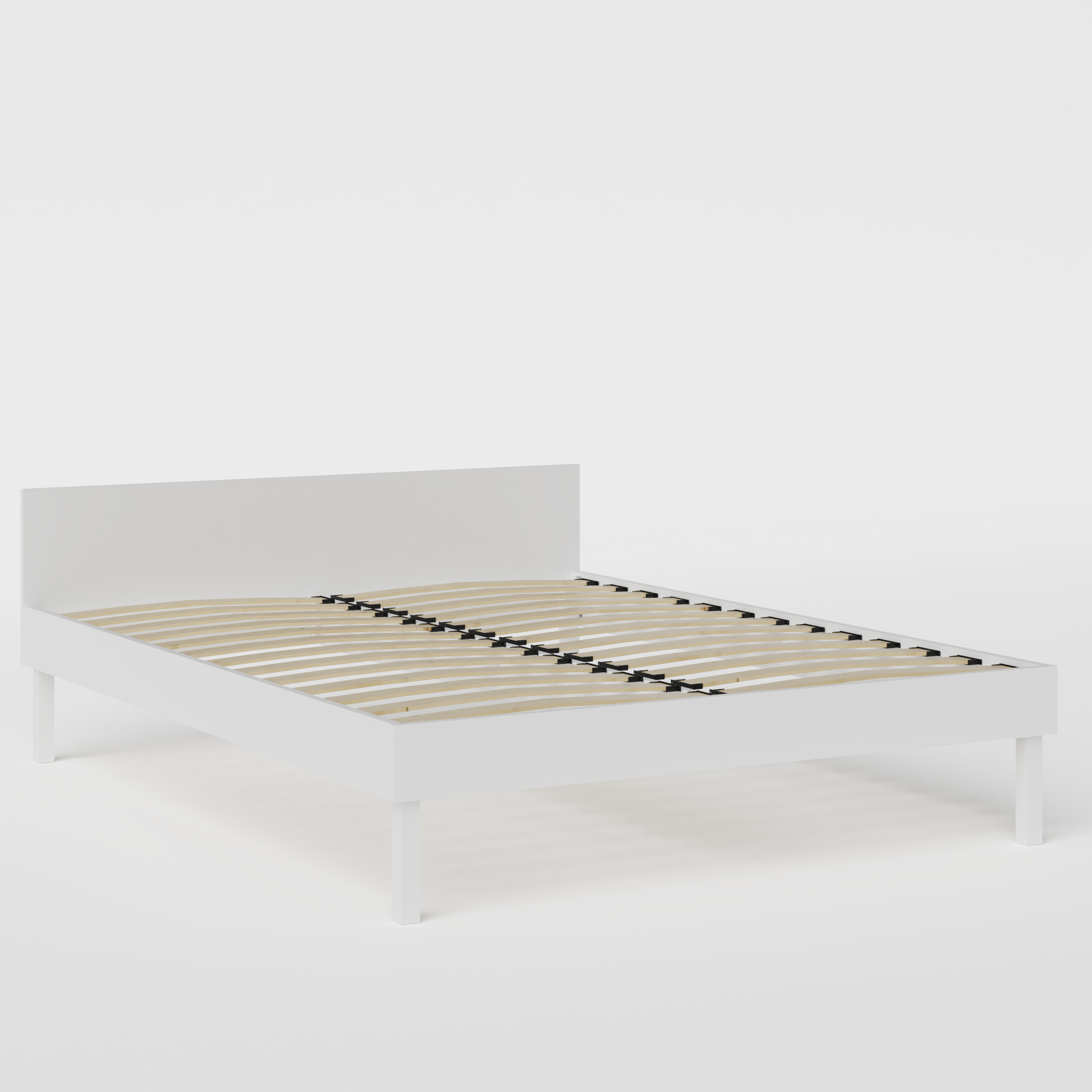 Fuji Painted painted wood bed in white