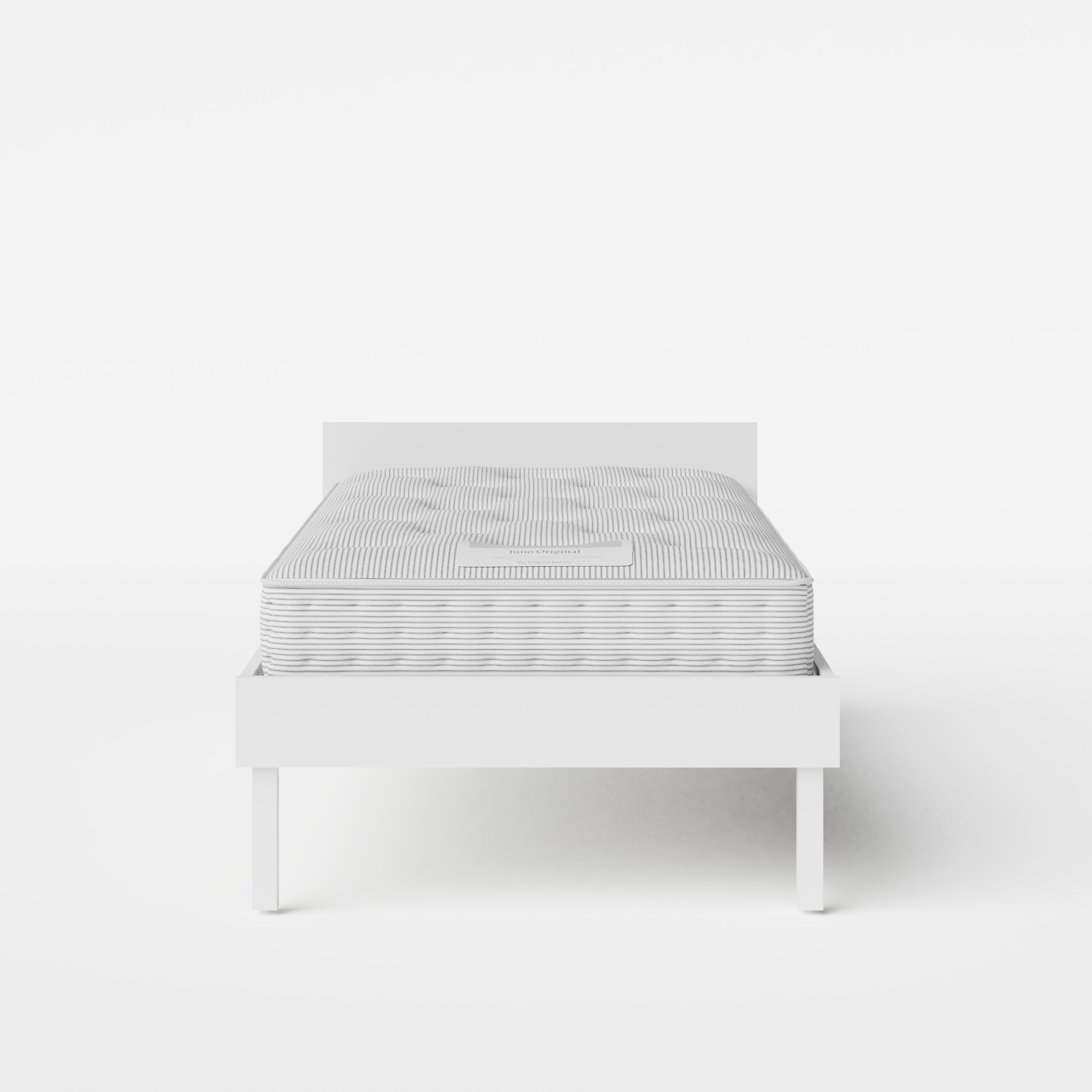 Fuji Painted single painted wood bed in white with Juno mattress