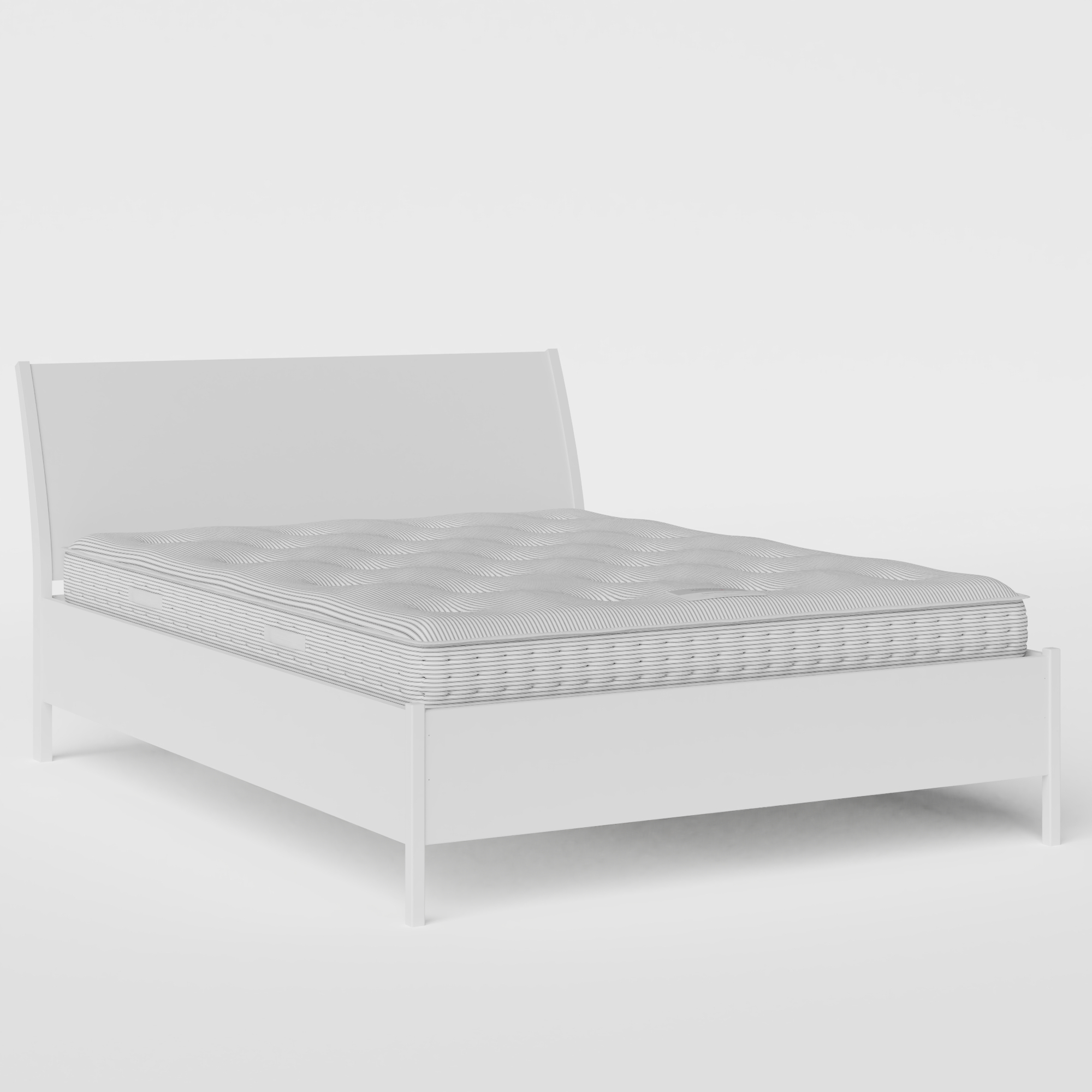 Hunt Painted painted wood bed in white with Juno mattress