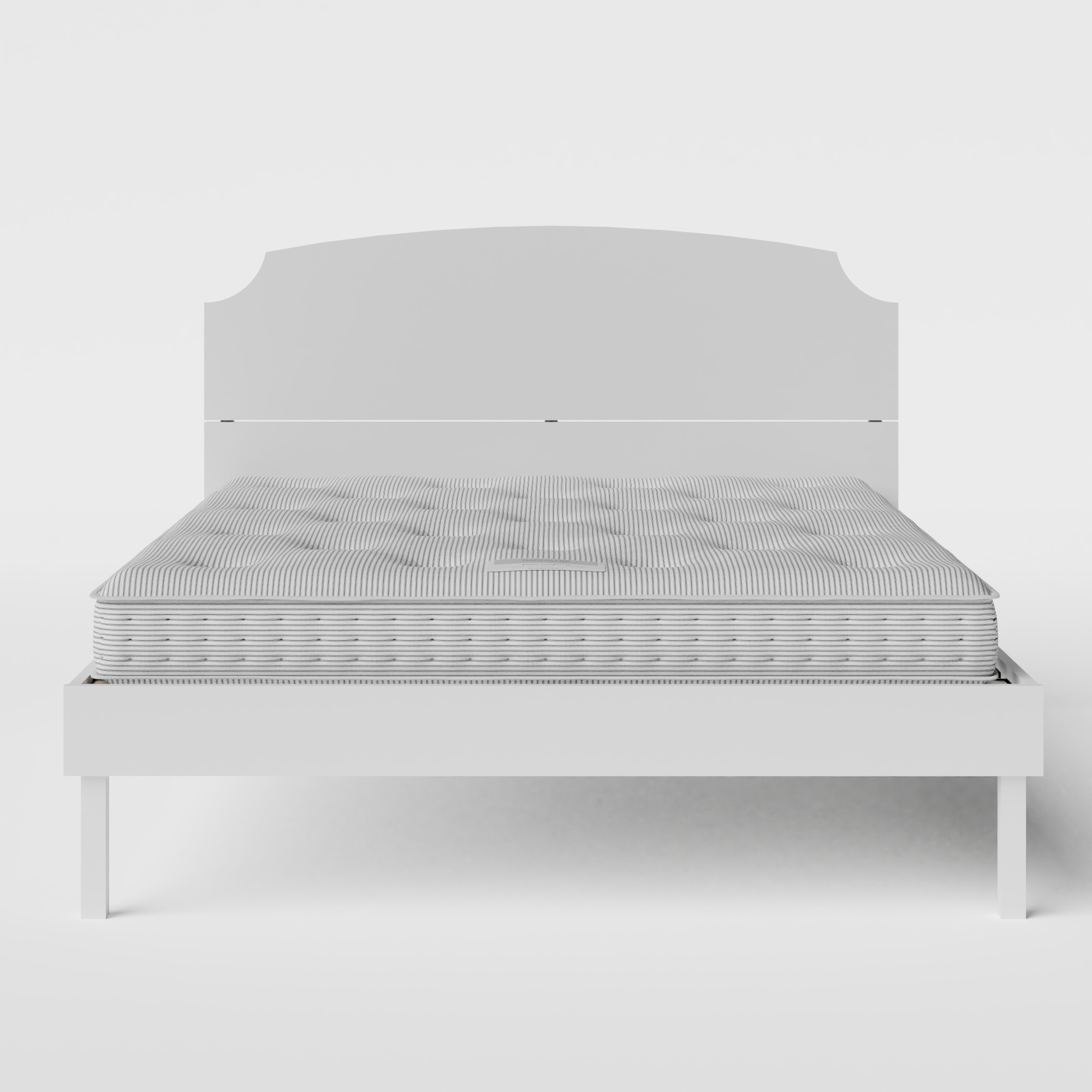 Kobe Painted painted wood bed in white with Juno mattress
