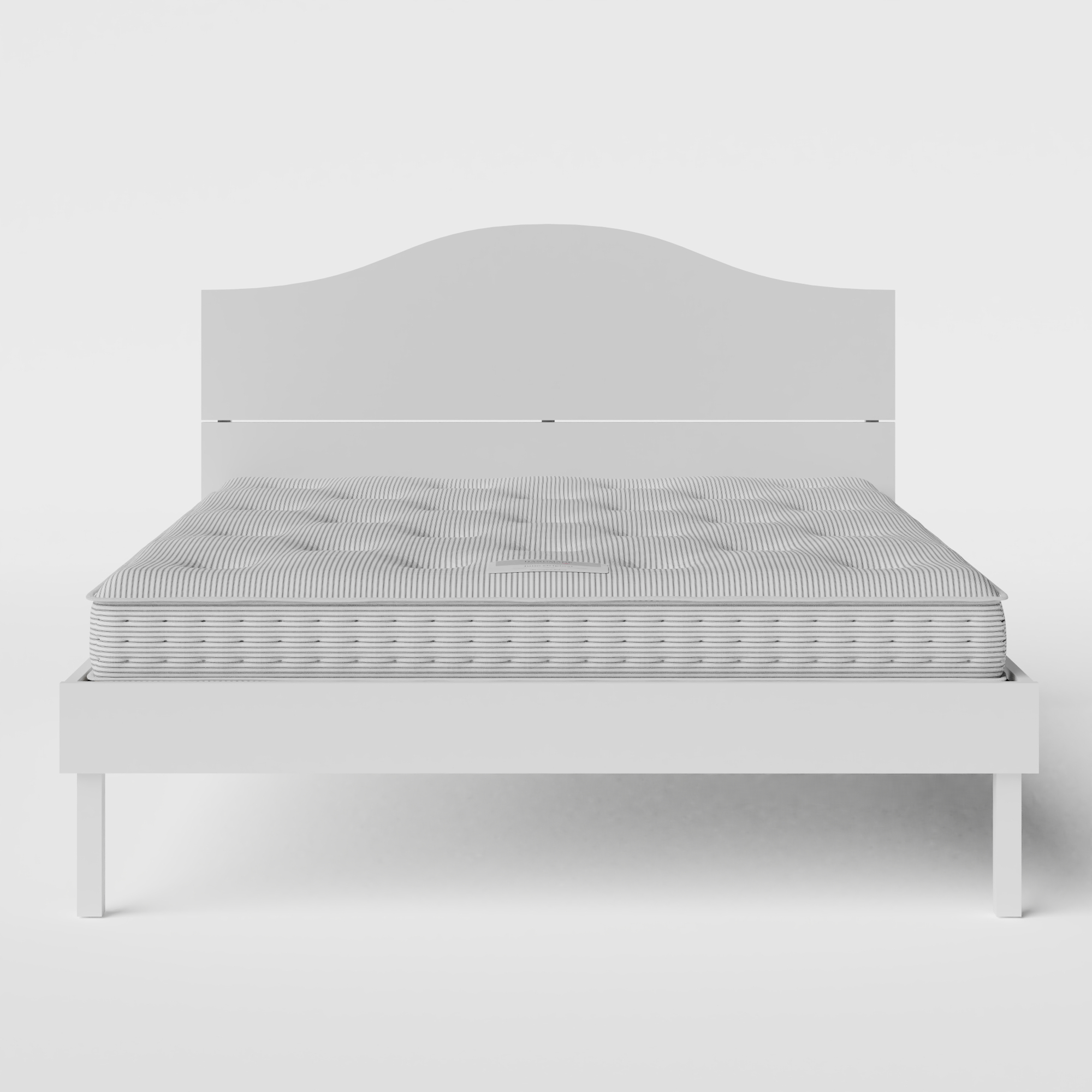 Yoshida Painted painted wood bed in white with Juno mattress