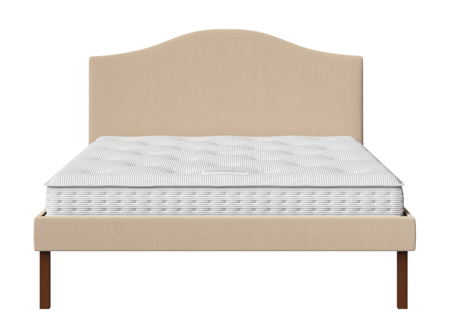 Yoshida single upholstered bed in natural fabric