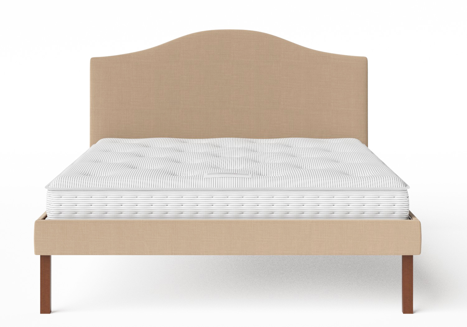 Yoshida Upholstered Bed with Straw fabric shown with Juno 1 mattress