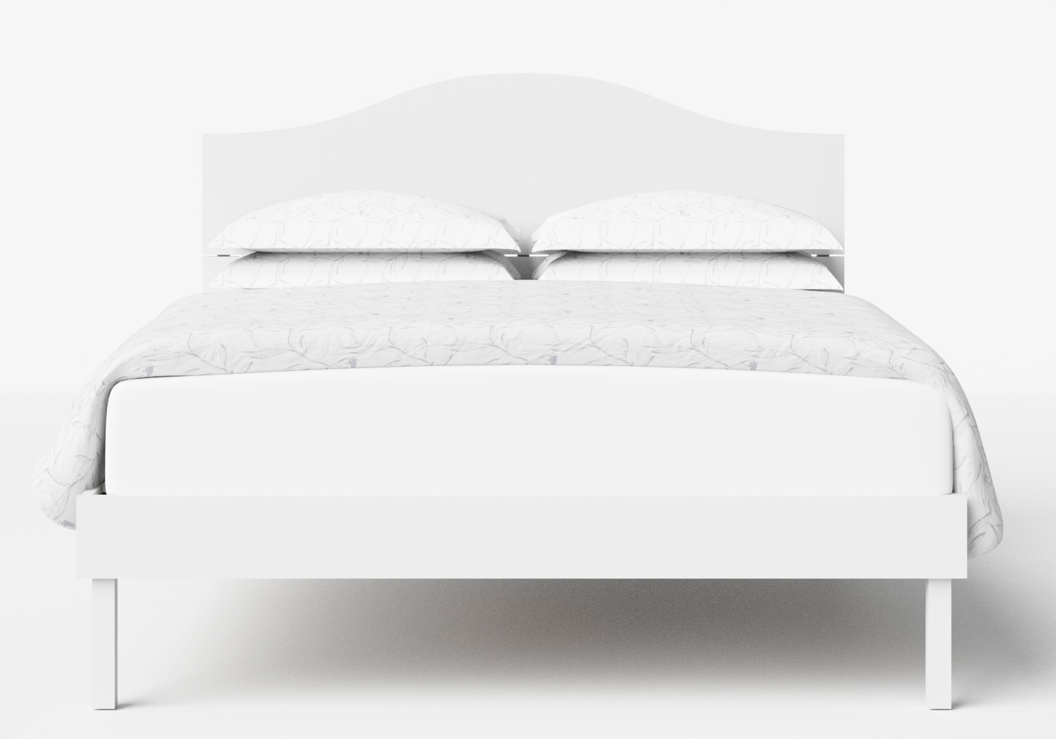 Yoshida Wood Bed in White