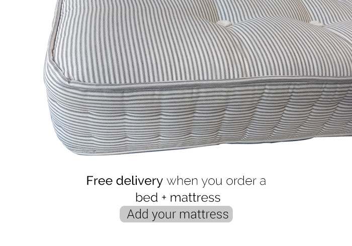 Free delivery when you order a bed + mattress