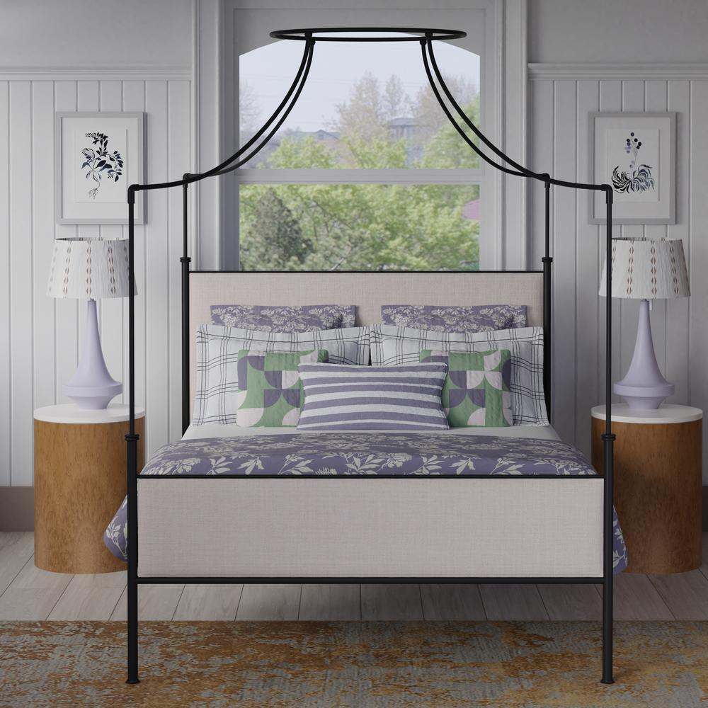 Waterloo four poster bed in black