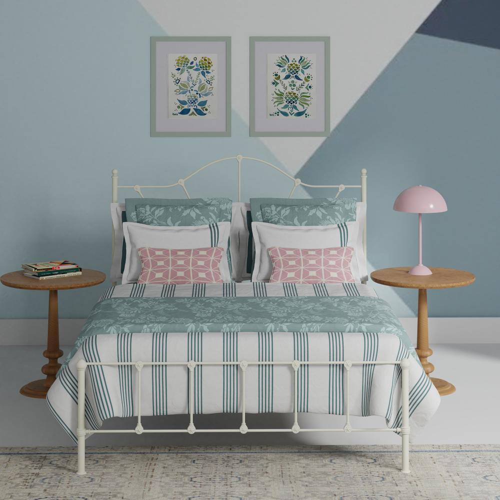 Claudia iron bed in white