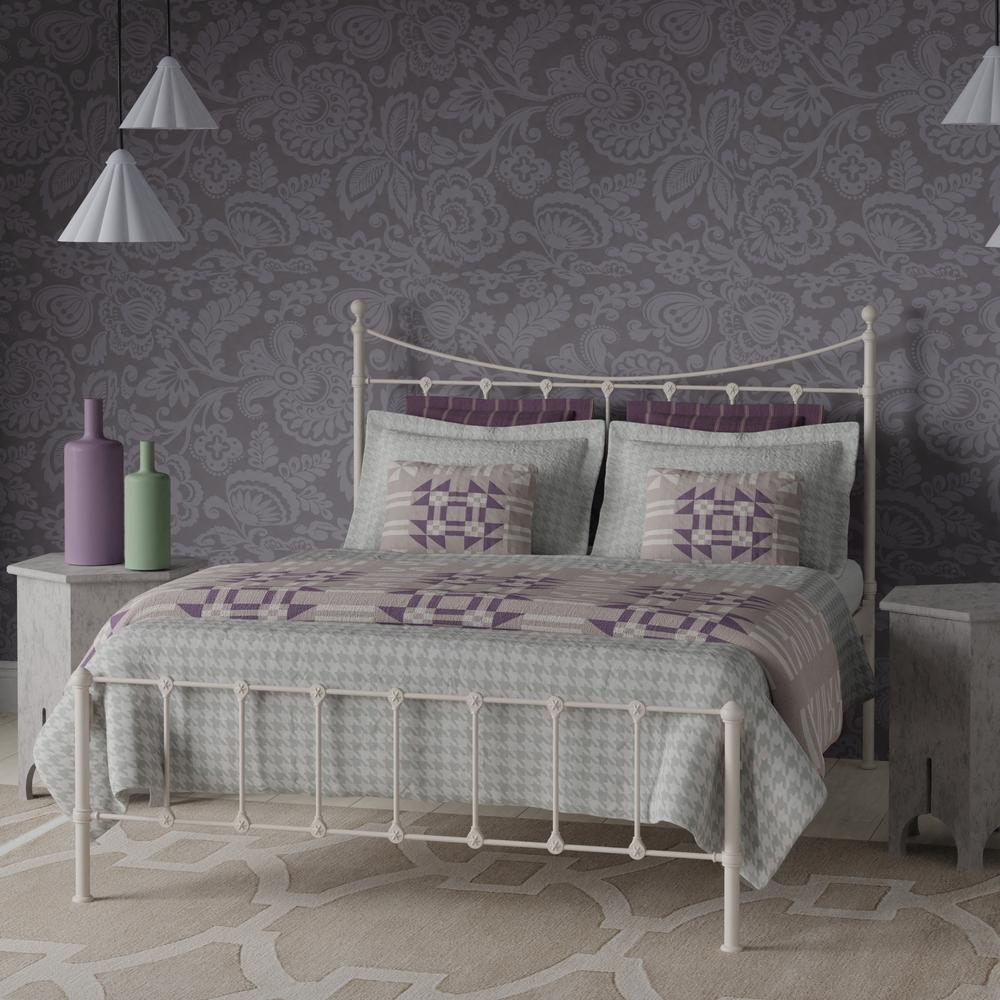 Olivia iron bed in white
