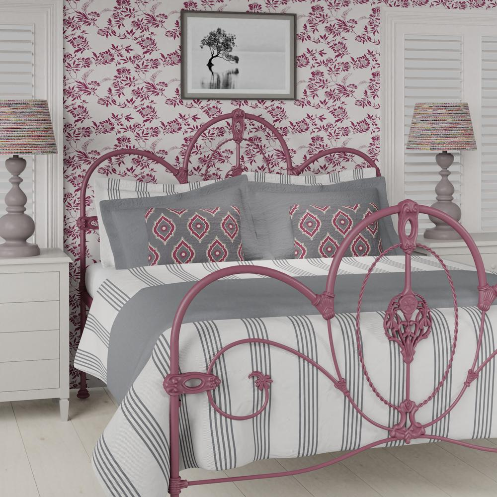 Ballina iron bed in pink