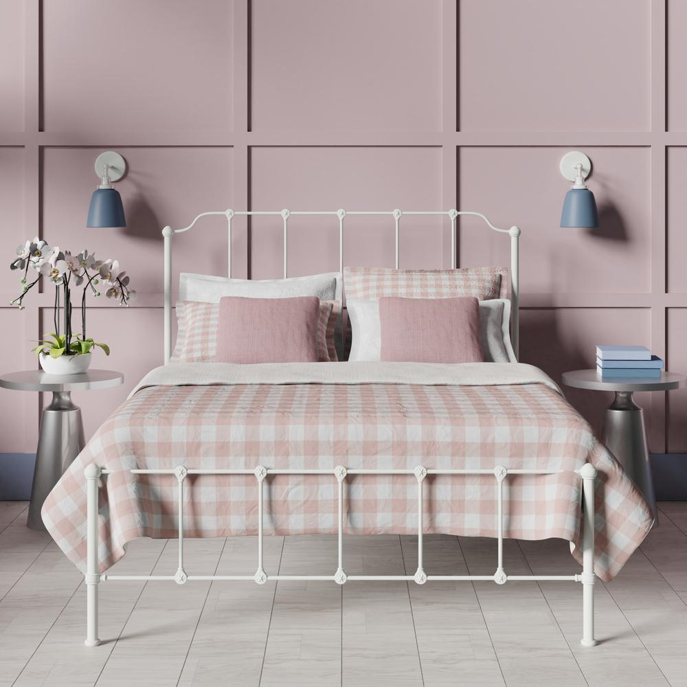 Julia bed in white with blush pink linens