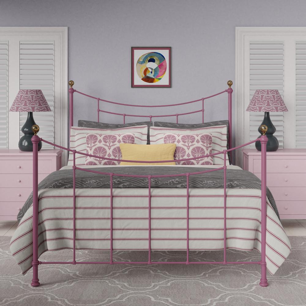 Virginia bed in bright pink