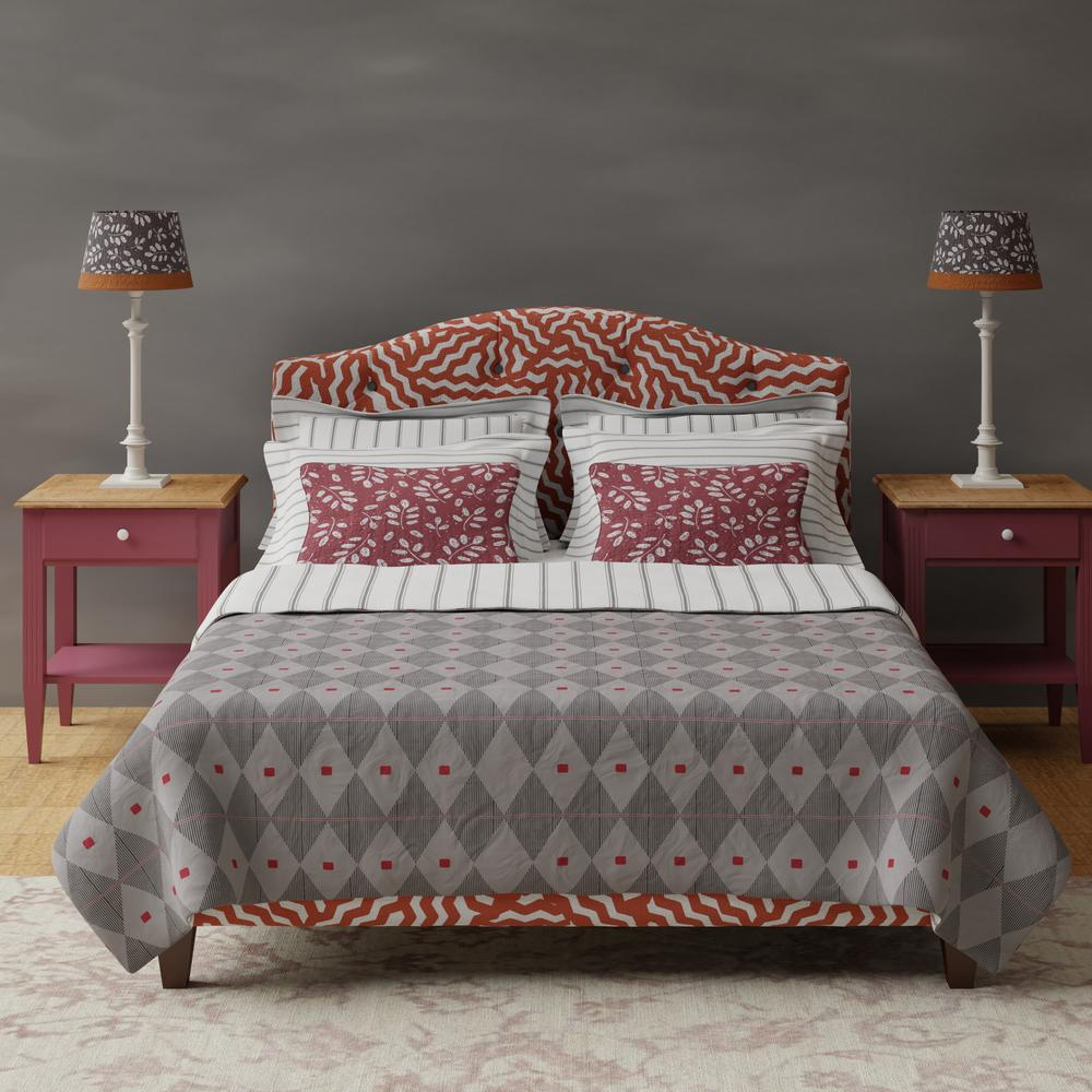 Daniella bed in orange patterned fabric