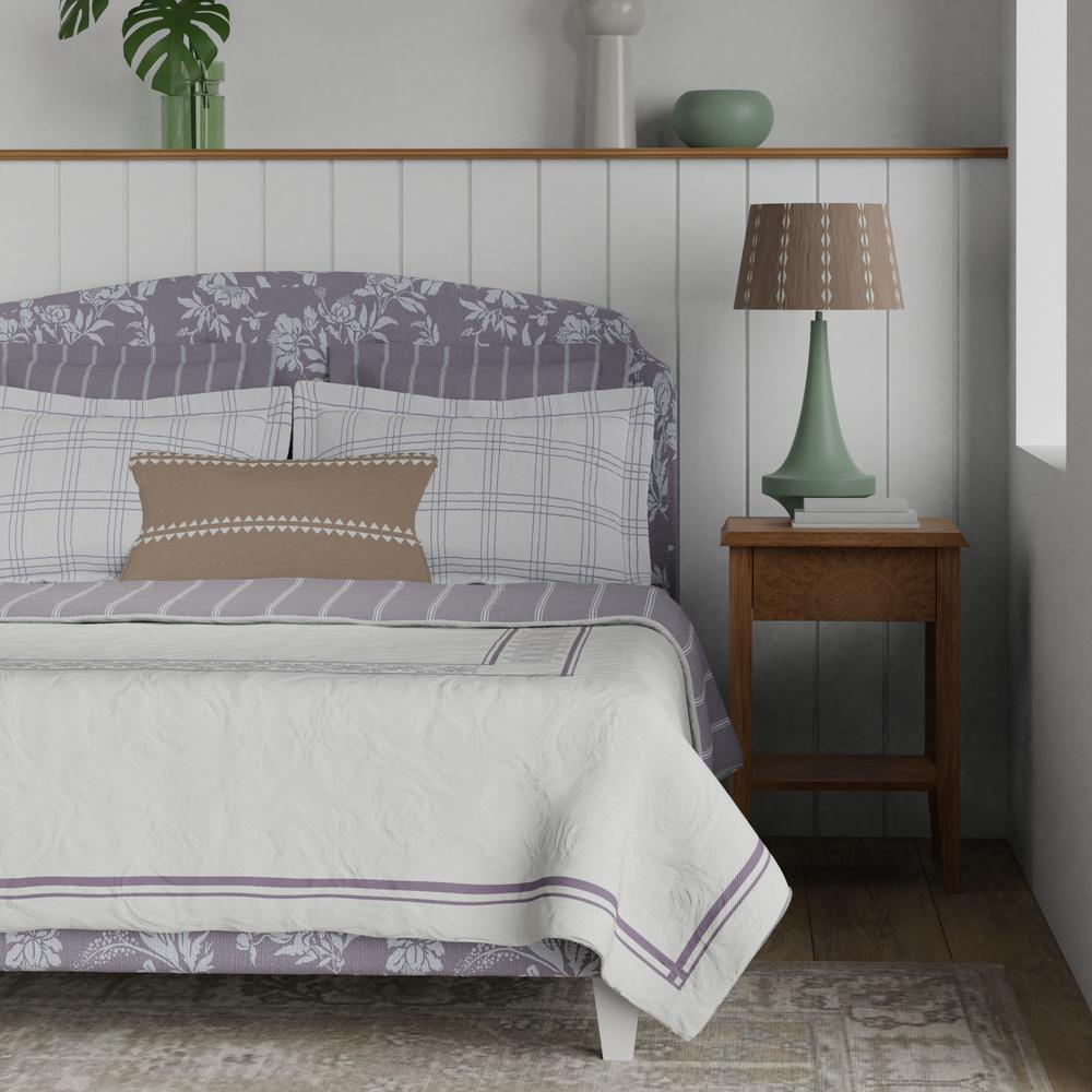 Lide upholstered bed in lilac